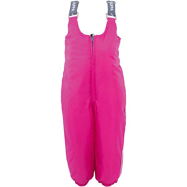 Полукомбинезон HuppaВерхняя одежда<br>Зимние брюки SONNY Huppa(Хуппа).<br><br>Утеплитель: 100% полиэстер, 160 гр.<br><br>Температурный режим: до -20 градусов. Степень утепления – средняя. <br><br>* Температурный режим указан приблизительно — необходимо, прежде всего, ориентироваться на ощущения ребенка. Температурный режим работает в случае соблюдения правила многослойности – использования флисовой поддевы и термобелья.<br><br>Изготовлены из качественных долговечных материалов. Они прекрасно подойдут для прогулок зимой и активного отдыха.<br><br>Особенности:<br>-дышащая водоотталкивающая мембрана, которая не допустит попадание воды и ветра под одежду и выведет лишнюю влагу<br>-утеплитель HuppaTherm неприхотлив в уходе. Быстро восстанавливает объем<br>-фланелевая подкладка из натурального хлопка, приятного телу<br>-проклеенные водостойкой лентой швы<br>-регулируемые подтяжки<br>-резинка на манжетах и поясе<br>-светоотражающие элементы <br><br>Дополнительная информация:<br>Материал: 100% полиэстер<br>Подкладка: фланель - 100% хлопок <br>Цвет: фуксия<br><br>Вы можете приобрести брюки SONNY Huppa(Хуппа) в нашем интернет-магазине.<br><br>Ширина мм: 215<br>Глубина мм: 88<br>Высота мм: 191<br>Вес г: 336<br>Цвет: розовый<br>Возраст от месяцев: 12<br>Возраст до месяцев: 15<br>Пол: Женский<br>Возраст: Детский<br>Размер: 80,104,98,92,86<br>SKU: 4928456