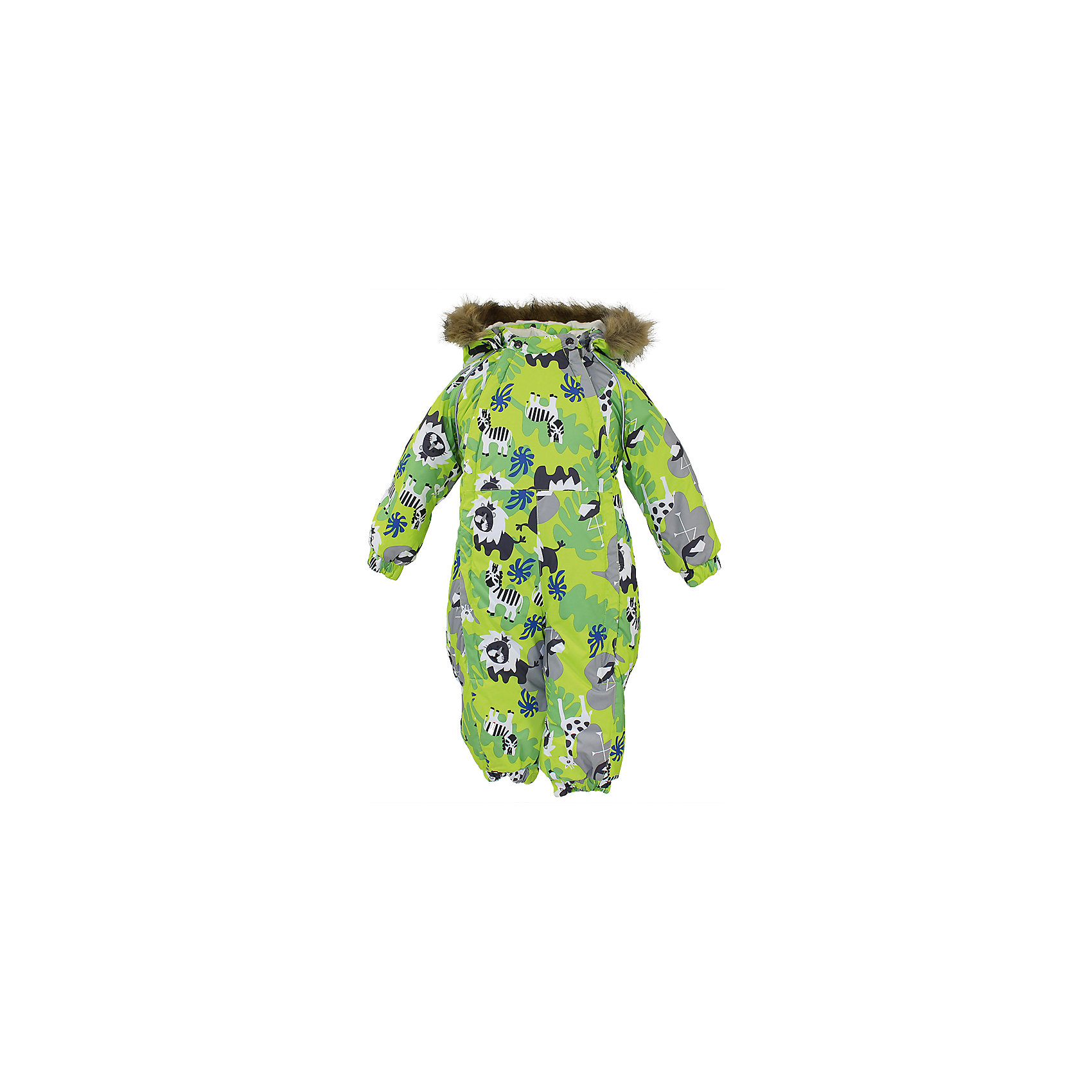 Комбинезон HuppaВерхняя одежда<br>Зимний комбинезон KEIRA Huppa (Хуппа) с необычной расцветкой и зверюшками изготовлен специально для малышей. <br><br>Утеплитель: 100% полиэстер, 300 гр.<br><br>Температурный режим: до -30 градусов. Степень утепления – высокая. <br><br>* Температурный режим указан приблизительно — необходимо, прежде всего, ориентироваться на ощущения ребенка. Температурный режим работает в случае соблюдения правила многослойности – использования флисовой поддевы и термобелья.<br><br>Мембрана с изнаночной стороны защитит от воды, ветра и выведет лишнюю влагу во избежание перегрева. Утеплитель HuppaTherm быстро восстанавливается и неприхотлив в уходе. Комбинезон имеет резинки на талии и манжетах, благодаря чему вы можете не переживать о том, что снег попадет крохе под одежду. Комбинезон застегивается на две молнии спереди, что особенно удобно для маленьких непосед.<br><br>Особенности:<br>-отстегивающийся капюшон<br>-двойная молния<br>-светоотражающие полоски<br>-манжеты с отворотом у размеров 68-80<br><br>Дополнительная информация:<br>Материал: 100% полиэстер<br>Подкладка: фланель - 100% хлопок<br>Цвет: салатовый<br><br>Вы можете приобрести комбинезон KEIRA Huppa (Хуппа) в нашем интернет-магазине.<br><br>Ширина мм: 356<br>Глубина мм: 10<br>Высота мм: 245<br>Вес г: 519<br>Цвет: зеленый<br>Возраст от месяцев: 6<br>Возраст до месяцев: 9<br>Пол: Унисекс<br>Возраст: Детский<br>Размер: 74,80,86,92,98,68<br>SKU: 4928498