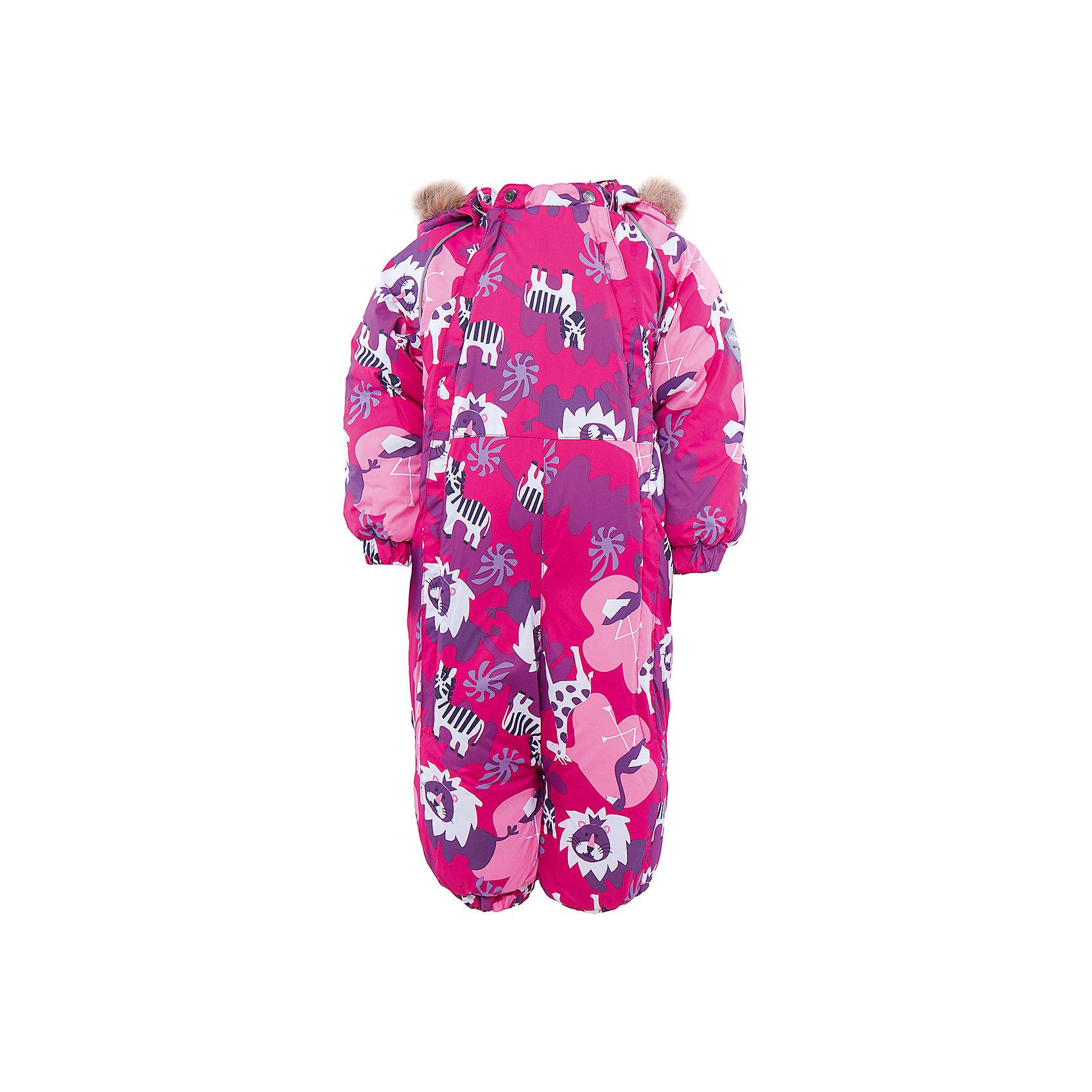 Комбинезон для девочки HuppaВерхняя одежда<br>Зимний комбинезон KEIRA Huppa (Хуппа) с необычной расцветкой и зверюшками изготовлен специально для малышей. <br><br>Утеплитель: 100% полиэстер, 300 гр.<br><br>Температурный режим: до -30 градусов. Степень утепления – высокая. <br><br>* Температурный режим указан приблизительно — необходимо, прежде всего, ориентироваться на ощущения ребенка. Температурный режим работает в случае соблюдения правила многослойности – использования флисовой поддевы и термобелья.<br><br>Мембрана с изнаночной стороны защитит от воды, ветра и выведет лишнюю влагу во избежание перегрева. Утеплитель HuppaTherm быстро восстанавливается и неприхотлив в уходе. Комбинезон имеет резинки на талии и манжетах, благодаря чему вы можете не переживать о том, что снег попадет крохе под одежду. Комбинезон застегивается на две молнии спереди, что особенно удобно для маленьких непосед.<br><br>Особенности:<br>-отстегивающийся капюшон<br>-двойная молния<br>-светоотражающие полоски<br>-манжеты с отворотом у размеров 68-80<br><br>Дополнительная информация:<br>Материал: 100% полиэстер<br>Подкладка: фланель - 100% хлопок<br>Цвет: розовый/лиловый<br><br>Вы можете приобрести комбинезон KEIRA Huppa (Хуппа) в нашем интернет-магазине.<br><br>Ширина мм: 356<br>Глубина мм: 10<br>Высота мм: 245<br>Вес г: 519<br>Цвет: розовый<br>Возраст от месяцев: 3<br>Возраст до месяцев: 6<br>Пол: Женский<br>Возраст: Детский<br>Размер: 68,98,74,80,86,92<br>SKU: 4928505