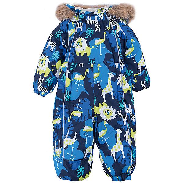 Комбинезон Huppa Keira для мальчикаВерхняя одежда<br>Характеристики товара:<br><br>• модель: Keira;<br>• цвет: синий принт;<br>• состав: 100% полиэстер;<br>• подкладка: 100% хлопок, фланель;<br>• утеплитель: Huppa Therm, 300 гр.;<br>• сезон: зима;<br>• температурный режим: от -5 до - 30С;<br>• водонепроницаемость: 10000 мм;;<br>• воздухопроницаемость: 10000 г/м2/24ч;<br>• водо- и ветронепроницаемый, дышащий и грязеотталкивающий материал;<br>• особенности модели: c рисунком, с мехом на капюшоне;<br>• капюшон для большего удобства крепится на кнопки и, при необходимости, отстегивается;<br>• искусственный мех на капюшоне не съемный;<br>• сидельный шов проклеен водостойкой лентой, для дополнительной защиты от протекания;<br>• светоотражающих элементов для безопасности ребенка;<br>• две боковые молнии;<br>• эластичные манжеты на резинках, с отворотом (у размеров 68-80);<br>• манжеты брюк на резинке;<br>• съемные силиконовые штрипки;<br>• у брючин отсутствуют внутренние швы;<br>• страна бренда: Эстония;<br>• страна изготовитель: Эстония.<br><br>Комбинезон Keira зимний - отличный вариант для холодной зимы. Важный критерий при выборе комбинезона для ребенка - это количество утеплителя, ведь дети еще малоподвижны, поэтому комбинезон должен быть теплым.<br><br>В модели Keira 300 грамм утеплителя, которые обеспечат тепло и комфорт ребенку при температуре от -5 до -30 градусов. Подкладка — из 100% хлопка ( фланель).<br><br>Функциональные элементы: капюшон отстегивается с помощью кнопок, мех пришит, манжеты на резинке, с отворотом у размеров 68-80. Сидельный шов проклеен водостойкой лентой, для дополнительной защиты от протекания, две длинные молнии для удобного надевания, манжеты брюк на резинке, у брючин отсутствуют внутренние швы, съемные силиконовые штрипки, светоотражающие элементы.<br><br>Комбинезон Keira от бренда Huppa (Хуппа) можно купить в нашем интернет-магазине.<br>Ширина мм: 356; Глубина мм: 10; Высота мм: 245; Вес г: 519; Цвет: синий; Возраст от месяцев: 3; Возраст