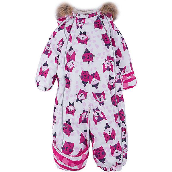 Комбинезон HuppaВерхняя одежда<br>Зимний комбинезон KEIRA Huppa (Хуппа) с необычной расцветкой и зверюшками изготовлен специально для малышей. <br><br>Утеплитель: 100% полиэстер, 300 гр.<br><br>Температурный режим: до -30 градусов. Степень утепления – высокая. <br><br>* Температурный режим указан приблизительно — необходимо, прежде всего, ориентироваться на ощущения ребенка. Температурный режим работает в случае соблюдения правила многослойности – использования флисовой поддевы и термобелья.<br><br>Мембрана с изнаночной стороны защитит от воды, ветра и выведет лишнюю влагу во избежание перегрева. Утеплитель HuppaTherm быстро восстанавливается и неприхотлив в уходе. Комбинезон имеет резинки на талии и манжетах, благодаря чему вы можете не переживать о том, что снег попадет крохе под одежду. Комбинезон застегивается на две молнии спереди, что особенно удобно для маленьких непосед.<br><br>Особенности:<br>-отстегивающийся капюшон<br>-двойная молния<br>-светоотражающие полоски<br>-манжеты с отворотом у размеров 68-80<br><br>Дополнительная информация:<br>Материал: 100% полиэстер<br>Подкладка: фланель - 100% хлопок<br>Цвет: белый/розовый<br><br>Вы можете приобрести комбинезон KEIRA Huppa (Хуппа) в нашем интернет-магазине.<br>Ширина мм: 356; Глубина мм: 10; Высота мм: 245; Вес г: 519; Цвет: розовый/белый; Возраст от месяцев: 6; Возраст до месяцев: 9; Пол: Женский; Возраст: Детский; Размер: 74,92,86,80,68,98; SKU: 4928519;