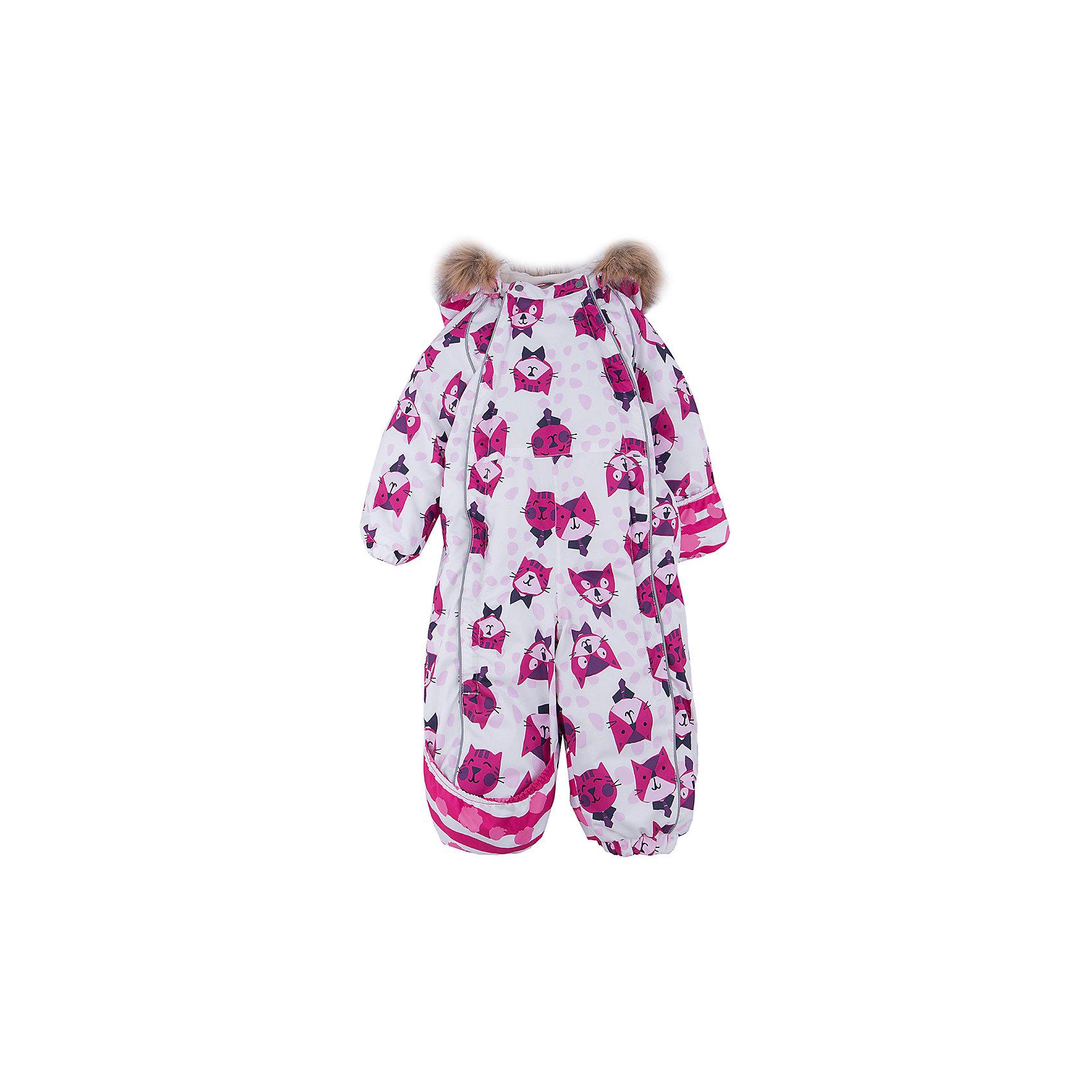 Комбинезон HuppaВерхняя одежда<br>Зимний комбинезон KEIRA Huppa (Хуппа) с необычной расцветкой и зверюшками изготовлен специально для малышей. <br><br>Утеплитель: 100% полиэстер, 300 гр.<br><br>Температурный режим: до -30 градусов. Степень утепления – высокая. <br><br>* Температурный режим указан приблизительно — необходимо, прежде всего, ориентироваться на ощущения ребенка. Температурный режим работает в случае соблюдения правила многослойности – использования флисовой поддевы и термобелья.<br><br>Мембрана с изнаночной стороны защитит от воды, ветра и выведет лишнюю влагу во избежание перегрева. Утеплитель HuppaTherm быстро восстанавливается и неприхотлив в уходе. Комбинезон имеет резинки на талии и манжетах, благодаря чему вы можете не переживать о том, что снег попадет крохе под одежду. Комбинезон застегивается на две молнии спереди, что особенно удобно для маленьких непосед.<br><br>Особенности:<br>-отстегивающийся капюшон<br>-двойная молния<br>-светоотражающие полоски<br>-манжеты с отворотом у размеров 68-80<br><br>Дополнительная информация:<br>Материал: 100% полиэстер<br>Подкладка: фланель - 100% хлопок<br>Цвет: белый/розовый<br><br>Вы можете приобрести комбинезон KEIRA Huppa (Хуппа) в нашем интернет-магазине.<br><br>Ширина мм: 356<br>Глубина мм: 10<br>Высота мм: 245<br>Вес г: 519<br>Цвет: белый/розовый<br>Возраст от месяцев: 6<br>Возраст до месяцев: 9<br>Пол: Женский<br>Возраст: Детский<br>Размер: 74,98,68,80,86,92<br>SKU: 4928519