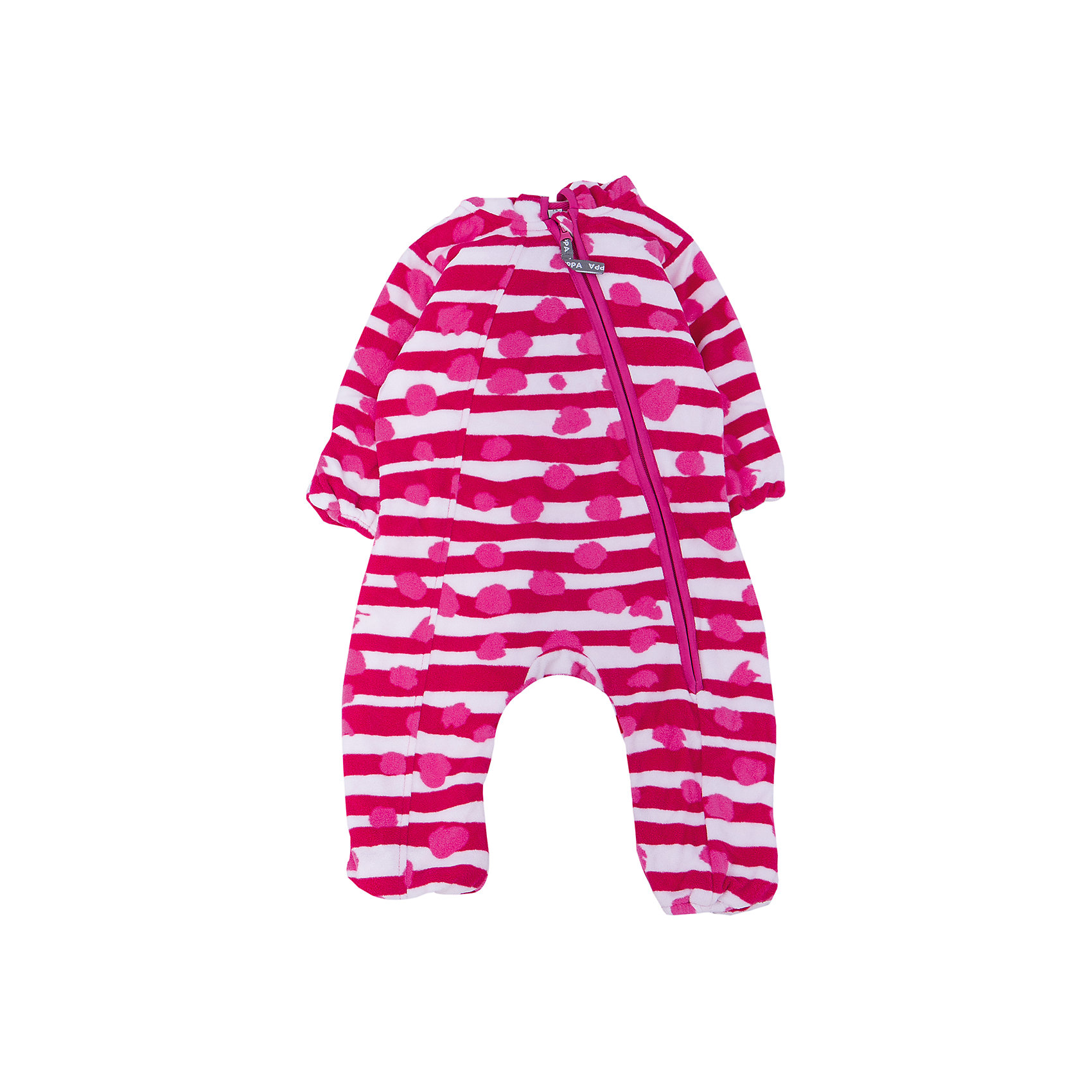 Комбинезон флисовый для девочки HuppaФлисовый комбинезон DANDY Huppa(Хуппа) имеет капюшон и застегивается на молнию по диагонали. На манжетах и талии есть резинки, надежно защищающие малыша от попадания ветра под одежду. Комбинезон достаточно теплый, хорошо сидит по фигуре и отлично подойдет в качестве промежуточного слоя в одежде в зимнее время или как верхняя одежда весной-осенью.<br><br>Дополнительная информация:<br>Материал: 100% полиэстер<br>Цвет: фуксия/белый<br>Флисовый комбинезон DANDY Huppa(Хуппа) вы можете приобрести в нашем интернет-магазине<br><br>Ширина мм: 356<br>Глубина мм: 10<br>Высота мм: 245<br>Вес г: 519<br>Цвет: розовый<br>Возраст от месяцев: 6<br>Возраст до месяцев: 9<br>Пол: Женский<br>Возраст: Детский<br>Размер: 74,86,80,68,62<br>SKU: 4928592