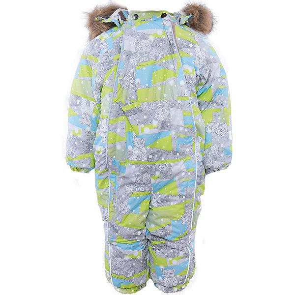 Комбинезон Huppa ReggieВерхняя одежда<br>Характеристики товара:<br><br>• модель: Reggie;<br>• цвет: серый;<br>• состав: 100% полиэстер;<br>• подкладка: 100% хлопок, фланель;<br>• утеплитель: 300 гр., 100% полиэстер;<br>• сезон: зима;<br>• температурный режим: от -5 до - 30С;<br>• водонепроницаемость: 5000 мм;<br>• воздухопроницаемость: 5000г/м2/24ч;<br>• водо- и ветронепроницаемый, дышащий и грязеотталкивающий материал;<br>• особенности модели: c рисунком, с мехом;<br>• капюшон для большего удобства крепится на кнопки и, при необходимости, отстегивается;<br>• искусственный мех на капюшоне съемный;<br>• сидельный шов и боковые швы проклеены и не пропускают влагу;<br>• светоотражающих элементов для безопасности ребенка;<br>• две длинные боковые молнии;<br>• на груди кармашек на липучке, внутри кольцо-держатель на ленте;<br>• эластичные манжеты на резинках, с отворотом (у размеров 62-80);<br>• манжеты брюк на резинке;<br>• съемные силиконовые штрипки;<br>• страна бренда: Эстония;<br>• страна изготовитель: Эстония.<br><br>Важный критерий при выборе комбинезона для малыша - это количество утеплителя, ведь малыши еще малоподвижны. поэтому комбинезон должен быть теплым. В модели Reggie 300 грамм утеплителя, которые обеспечат тепло и комфорт ребенку при температуре от -5 до -30 градусов. Подкладка — из 100% хлопка (фланель). Манжеты с отворотом у размеров 62-80.<br><br>Функциональные элементы: капюшон отстегивается с помощью кнопок, мех отстегивается, карманы на липучке, манжеты на резинке, съемные силиконовые штрипки, светоотражающие элементы, две длинные молнии, отвороты.<br><br>Комбинезон Reggie от бренда Huppa (Хуппа) можно купить в нашем интернет-магазине.<br>Ширина мм: 356; Глубина мм: 10; Высота мм: 245; Вес г: 519; Цвет: зеленый; Возраст от месяцев: 12; Возраст до месяцев: 18; Пол: Женский; Возраст: Детский; Размер: 86,68,98,92,80,74; SKU: 4928625;