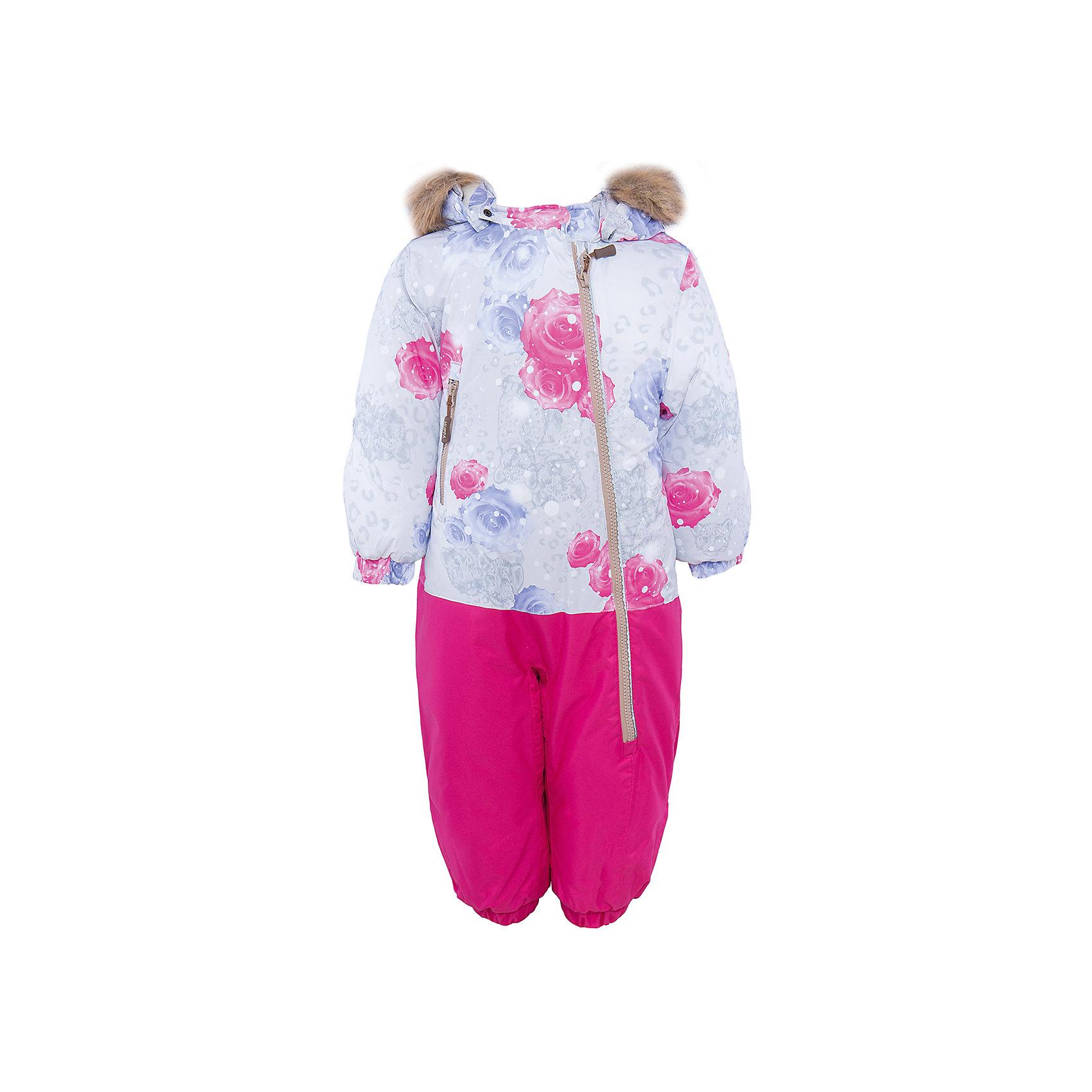 Комбинезон  для девочки HuppaВерхняя одежда<br>Теплый комбинезон DEVON Huppa(Хуппа).<br><br>Утеплитель: 100% полиэстер, 300 гр.<br><br>Температурный режим: до -30 градусов. Степень утепления – высокая. <br><br>* Температурный режим указан приблизительно — необходимо, прежде всего, ориентироваться на ощущения ребенка. Температурный режим работает в случае соблюдения правила многослойности – использования флисовой поддевы и термобелья.<br><br>Прекрасно подойдет для малышей, ведь он легко застегивается на длинную молнию по диагонали. Резинки на талии и манжетах не позволят снегу и ветру попасть под одежду. Комбинезон дополнен искусственным мехом на капюшоне в форме ушек. Яркая расцветка непременно понравится непоседе!<br><br>Особенности: <br>-мягкая подкладка <br>-съемный капюшон с отстегивающимся мехом <br>-карман с лентой для соски <br>-резинка для обуви <br>-водоотталкивающие дышащие материалы <br>-утеплитель HuppaTherm, неприхотлив в уходе <br>-швы проклеены водостойкой лентой<br>-светоотражающие элементы<br>-манжеты с отворотом у размеров 62-80<br><br><br>Дополнительная информация: <br>Материал: 100% полиэстер <br>Подкладка: фланель - 100% хлопок <br>Цвет: фуксия/серый<br><br>Вы можете приобрести комбинезон DEVON Huppa(Хуппа) в нашем интернет-магазине.<br><br>Ширина мм: 356<br>Глубина мм: 10<br>Высота мм: 245<br>Вес г: 519<br>Цвет: белый<br>Возраст от месяцев: 3<br>Возраст до месяцев: 6<br>Пол: Женский<br>Возраст: Детский<br>Размер: 68,98,74,80,86,92<br>SKU: 4928646