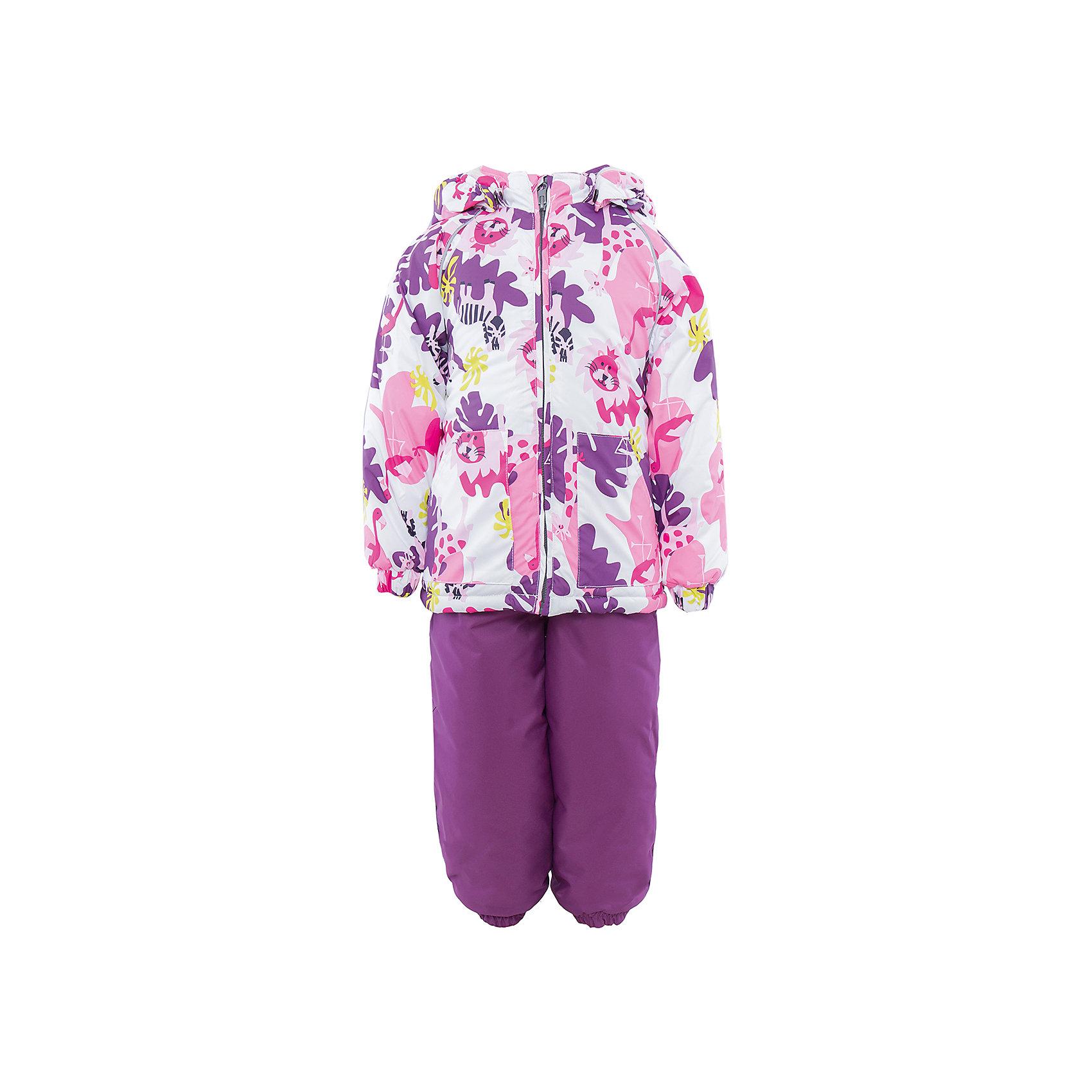 Комплект HuppaКомплект из куртки и комбинезона AVERY1 Huppa(Хуппа).<br><br>Утеплитель: 100% полиэстер. Куртка – 300 гр., полукомбинезон – 160 гр.<br><br>Температурный режим: до -30 градусов. Степень утепления – высокая. <br><br>* Температурный режим указан приблизительно — необходимо, прежде всего, ориентироваться на ощущения ребенка. Температурный режим работает в случае соблюдения правила многослойности – использования флисовой поддевы и термобелья.<br><br>Отлично подойдет для зимних прогулок. Комбинезон имеет подтяжки и резинки на талии и манжетах. Куртка с капюшоном и резинками на манжетах имеет необычный дизайн и принт со зверюшками.<br><br>Особенности:<br>-плотная дышащая и водоотталкивающая мембрана<br>-водонепроницаемый<br>-мягкая фланелевая подкладка<br>-водостойкая лента на швах<br>-высокая прочность<br>-светоотражающие элементы<br>-съемный каюшон (мех не отстегивается)<br><br>Дополнительная информация:<br>Материал: 100% полиэстер<br>Подкладка: фланель - 100% хлопок<br>Цвет: лиловый/белый<br><br>Вы можете приобрести комплект AVERY1 Huppa(Хуппа) в нашем интернет-магазине.<br><br>Ширина мм: 356<br>Глубина мм: 10<br>Высота мм: 245<br>Вес г: 519<br>Цвет: белый<br>Возраст от месяцев: 18<br>Возраст до месяцев: 24<br>Пол: Женский<br>Возраст: Детский<br>Размер: 92,104,98,86,80<br>SKU: 4928792