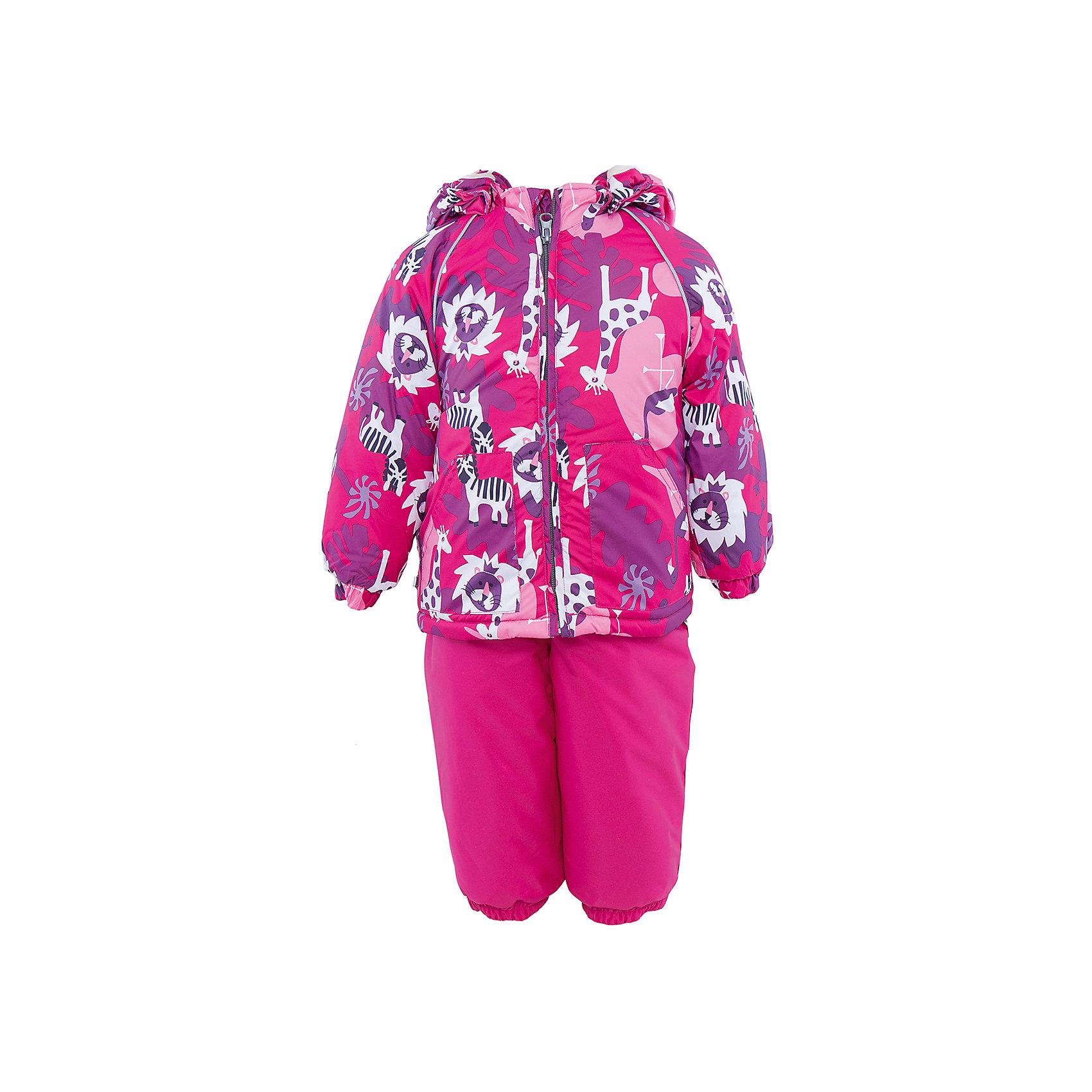 Комплект HuppaВерхняя одежда<br>Комплект из куртки и комбинезона AVERY1 Huppa(Хуппа).<br><br>Утеплитель: 100% полиэстер. Куртка – 300 гр., полукомбинезон – 160 гр.<br><br>Температурный режим: до -30 градусов. Степень утепления – высокая. <br><br>* Температурный режим указан приблизительно — необходимо, прежде всего, ориентироваться на ощущения ребенка. Температурный режим работает в случае соблюдения правила многослойности – использования флисовой поддевы и термобелья.<br><br>Отлично подойдет для зимних прогулок. Комбинезон имеет подтяжки и резинки на талии и манжетах. Куртка с капюшоном и резинками на манжетах имеет необычный дизайн и принт со зверюшками.<br><br>Особенности:<br>-плотная дышащая и водоотталкивающая мембрана<br>-водонепроницаемый<br>-мягкая фланелевая подкладка<br>-водостойкая лента на швах<br>-высокая прочность<br>-светоотражающие элементы<br>-съемный капюшон <br><br>Дополнительная информация:<br>Материал: 100% полиэстер<br>Подкладка: фланель - 100% хлопок<br>Цвет: фуксия<br><br>Вы можете приобрести комплект AVERY1 Huppa(Хуппа) в нашем интернет-магазине.<br><br>Ширина мм: 356<br>Глубина мм: 10<br>Высота мм: 245<br>Вес г: 519<br>Цвет: розовый<br>Возраст от месяцев: 12<br>Возраст до месяцев: 15<br>Пол: Женский<br>Возраст: Детский<br>Размер: 80,104,86,92,98<br>SKU: 4928804
