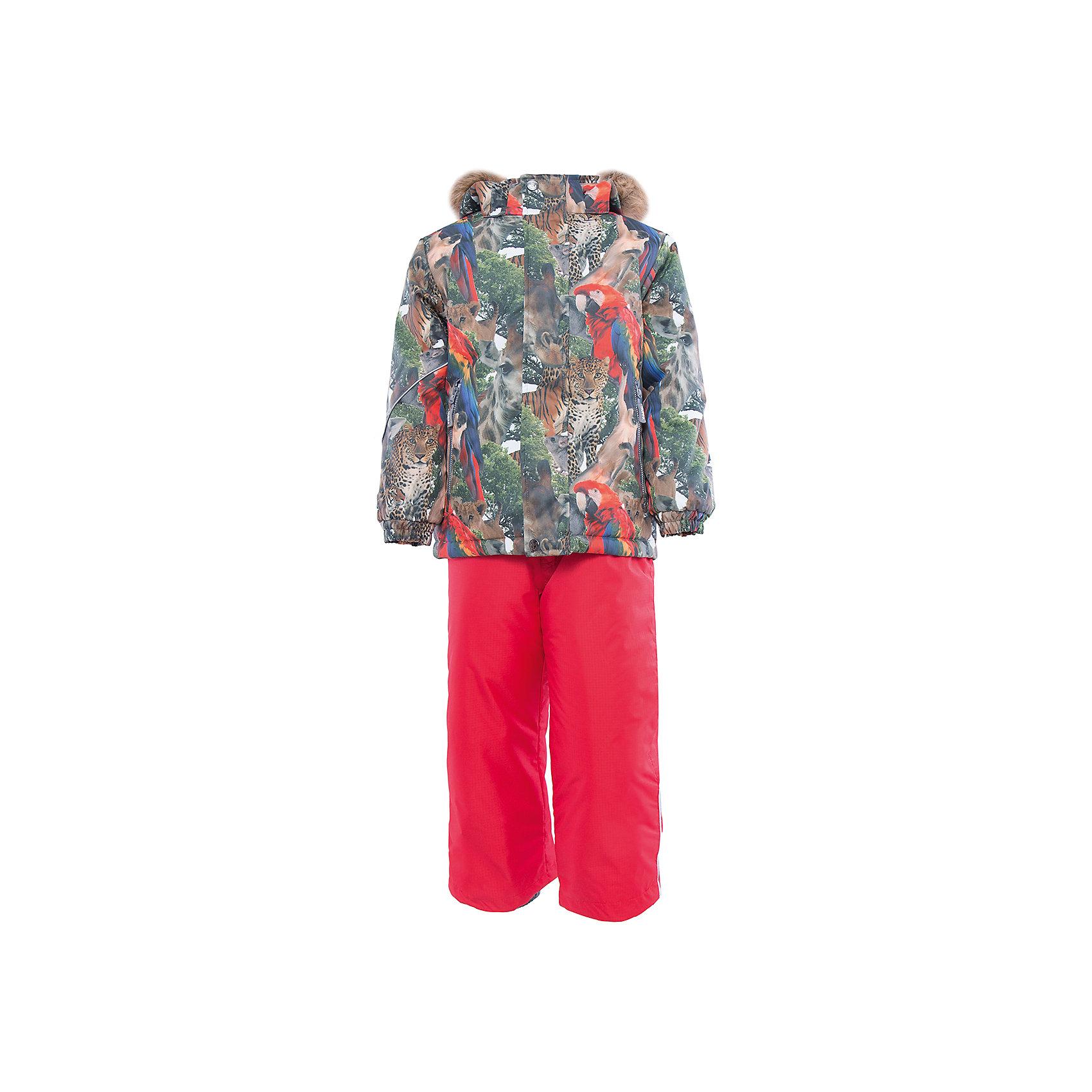 Комплект HuppaКомплект из куртки и полукомбинезона DANTE Huppa(Хуппа).<br><br>Утеплитель: 100% полиэстер. Куртка – 300 гр., полукомбинезон – 160 гр.<br><br>Температурный режим: до -30 градусов. Степень утепления – высокая. <br><br>* Температурный режим указан приблизительно — необходимо, прежде всего, ориентироваться на ощущения ребенка. Температурный режим работает в случае соблюдения правила многослойности – использования флисовой поддевы и термобелья.<br><br>Имеет яркую расцветку и придется по вкусу любому юному моднику. Комплект очень теплый и способен защитить вашего ребенка от мороза, ветра и перегрева даже при самых активных играх. Полукомбинезон с подтяжками и резинкой на поясе. Куртка имеет капюшон с искусственным мехом и резинки на манжетах<br><br>Особенности:<br>-дышащий и водонепроницаемый<br>-водостойкая лента на швах<br>-прочные материалы<br>-светоотражающие элементы<br>-съемный капюшон с отстегивающимся мехом<br>-плечевые швы, шаговый шов, боковые швы проклеены<br><br>Дополнительная информация:<br>Материал: 100% полиэстер<br>Подкладка: тафта, флис, pritex - 100% полиэстер<br>Цвет: красный<br>Вы можете приобрести комплект DANTE Huppa(Хуппа) в нашем интернет-магазине.<br><br>Ширина мм: 356<br>Глубина мм: 10<br>Высота мм: 245<br>Вес г: 519<br>Цвет: красный<br>Возраст от месяцев: 120<br>Возраст до месяцев: 132<br>Пол: Унисекс<br>Возраст: Детский<br>Размер: 146,104,140,134,128,122,116,110<br>SKU: 4928834