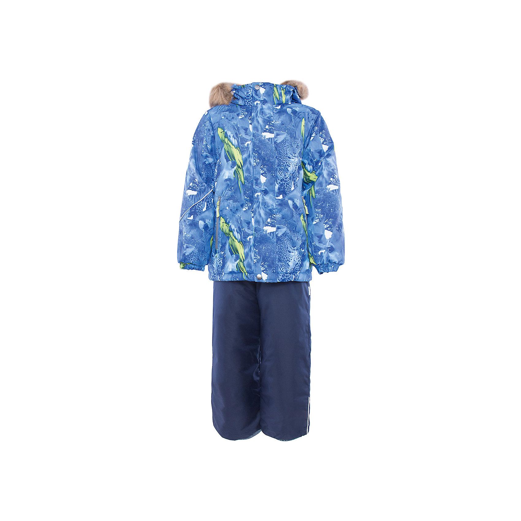Комплект HuppaВерхняя одежда<br>Комплект из куртки и полукомбинезона DANTE Huppa(Хуппа).<br><br>Утеплитель: 100% полиэстер. Куртка – 300 гр., полукомбинезон – 160 гр.<br><br>Температурный режим: до -30 градусов. Степень утепления – высокая. <br><br>* Температурный режим указан приблизительно — необходимо, прежде всего, ориентироваться на ощущения ребенка. Температурный режим работает в случае соблюдения правила многослойности – использования флисовой поддевы и термобелья.<br><br>Имеет яркую расцветку и придется по вкусу любому юному моднику. Комплект очень теплый и способен защитить вашего ребенка от мороза, ветра и перегрева даже при самых активных играх. Полукомбинезон с подтяжками и резинкой на поясе. Куртка имеет капюшон с искусственным мехом и резинки на манжетах<br><br>Особенности:<br>-дышащий и водонепроницаемый<br>-водостойкая лента на швах<br>-прочные материалы<br>-светоотражающие элементы<br>-съемный капюшон с отстегивающимся мехом<br>-плечевые швы, шаговый шов, боковые швы проклеены<br><br>Дополнительная информация:<br>Материал: 100% полиэстер<br>Подкладка: тафта, флис, pritex - 100% полиэстер<br>Цвет: синий/темно-синий<br><br>Вы можете приобрести комплект DANTE Huppa(Хуппа) в нашем интернет-магазине.<br><br>Ширина мм: 356<br>Глубина мм: 10<br>Высота мм: 245<br>Вес г: 519<br>Цвет: синий<br>Возраст от месяцев: 36<br>Возраст до месяцев: 48<br>Пол: Унисекс<br>Возраст: Детский<br>Размер: 104,146,110,116,122,128,134,140<br>SKU: 4928843