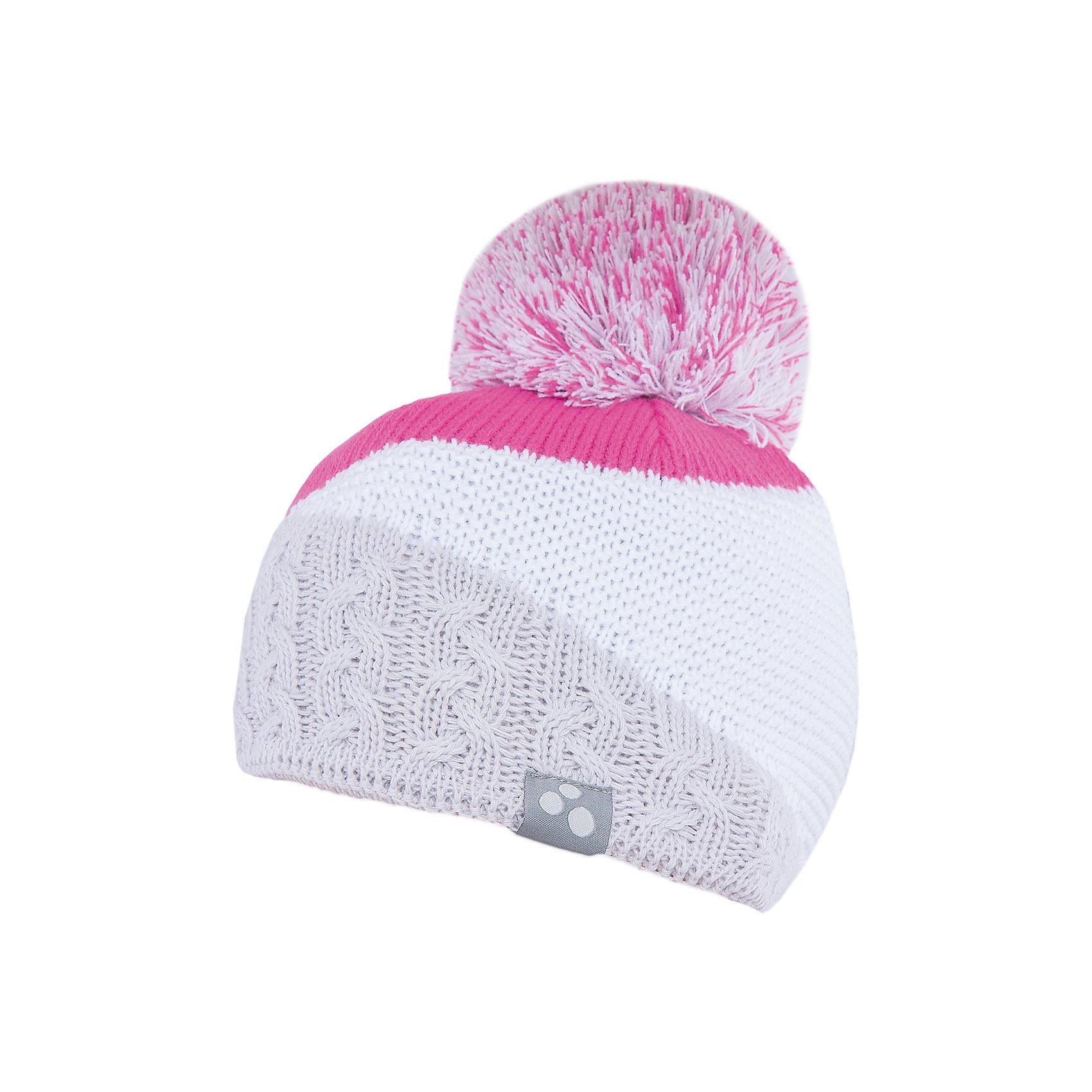 Шапка Morley HuppaЗимние<br>Вязаная шапка MORLEY Huppa(Хуппа) изготовлена из шерсти мериноса и акрила. Шапка украшена двухцветным помпоном, рисунком разрезы и вывязанными косичками по нижнему краю. На шапке присутствуют светоотражающие элементы. Отлично смотрится со спортивной одеждой.<br><br>Дополнительная информация:<br>Материал: 50% шерсть мериноса, 50% акрил<br>Цвет: белый/розовый<br><br>Вязаную шапку MORLEY Huppa(Хуппа) можно приобрести в нашем интернет-магазине.<br><br>Ширина мм: 89<br>Глубина мм: 117<br>Высота мм: 44<br>Вес г: 155<br>Цвет: серый<br>Возраст от месяцев: 84<br>Возраст до месяцев: 120<br>Пол: Женский<br>Возраст: Детский<br>Размер: 51-53,55-57,55-57<br>SKU: 4928882