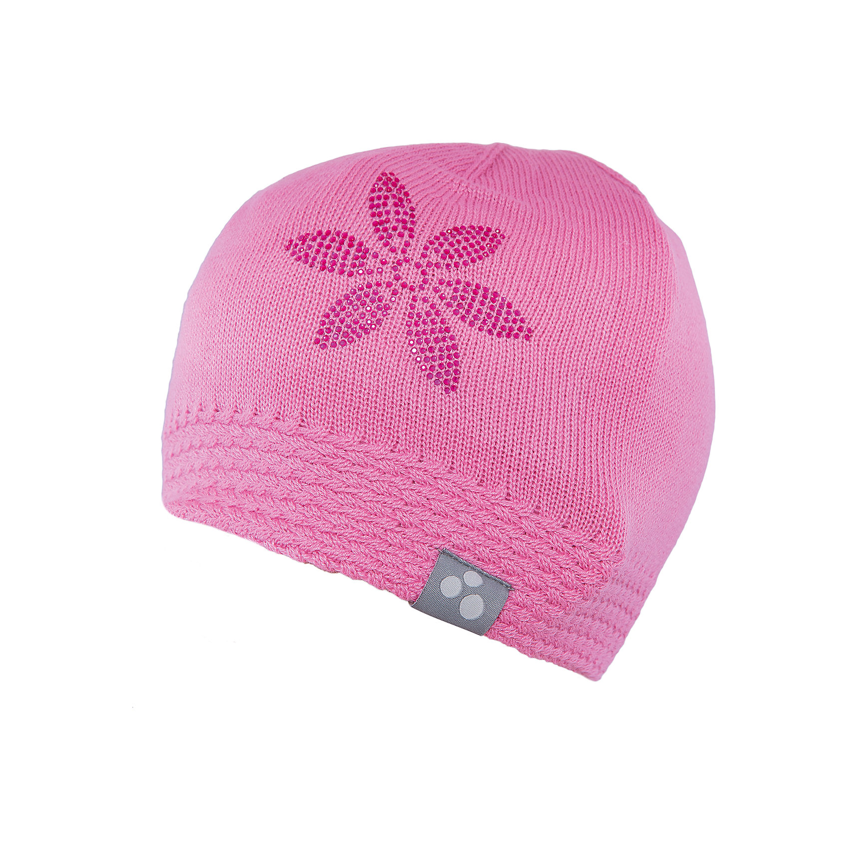 Шапка для девочки HuppaВязаная шапка ELIISA Huppa(Хуппа) выполнена из шерсти мериноса и акрила. Шапка украшена вязаным цветком и стразами. Есть резиночка и светоотражающие элементы по нижнему краю. Такая шапочка приятно согреет девочку в холода.<br><br>Дополнительная информация:<br>Материал: 50% шерсть мериноса, 50% акрил<br>Цвет: розовый<br><br>Шапку ELIISA Huppa(Хуппа) можно купить в нашем интернет-магазине.<br><br>Ширина мм: 89<br>Глубина мм: 117<br>Высота мм: 44<br>Вес г: 155<br>Цвет: розовый<br>Возраст от месяцев: 84<br>Возраст до месяцев: 120<br>Пол: Женский<br>Возраст: Детский<br>Размер: 55-57,55-57,51-53<br>SKU: 4928890