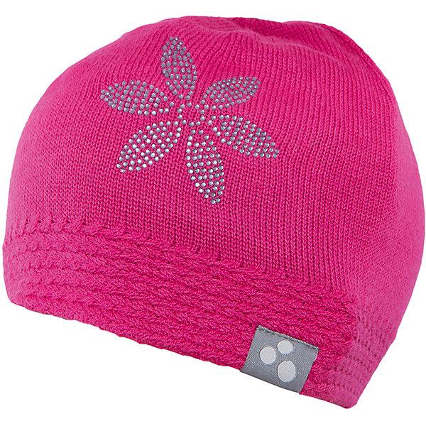 Шапка для девочки HuppaДемисезонные<br>Вязаная шапка ELIISA Huppa(Хуппа) выполнена из шерсти мериноса и акрила. Шапка украшена вязаным цветком и стразами. Есть резиночка и светоотражающие элементы по нижнему краю. Такая шапочка приятно согреет девочку в холода.<br><br>Дополнительная информация:<br>Материал: 50% шерсть мериноса, 50% акрил<br>Цвет: фуксия<br><br>Шапку ELIISA Huppa(Хуппа) можно купить в нашем интернет-магазине.<br><br>Ширина мм: 89<br>Глубина мм: 117<br>Высота мм: 44<br>Вес г: 155<br>Цвет: розовый<br>Возраст от месяцев: 84<br>Возраст до месяцев: 120<br>Пол: Женский<br>Возраст: Детский<br>Размер: 55-57,55-57,51-53<br>SKU: 4928898