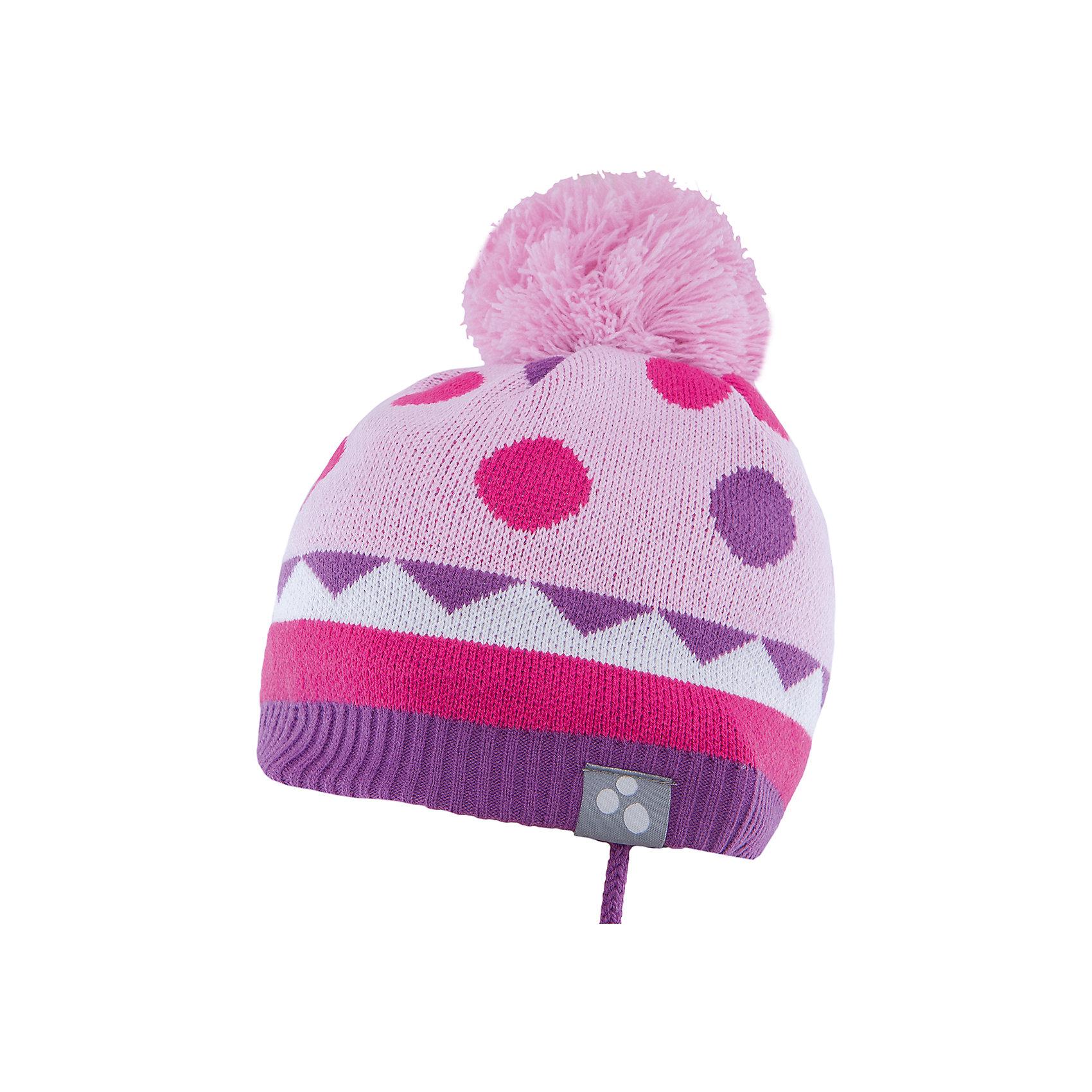 Шапка  HuppaГоловные уборы<br>Вязаная шапка PEETA Huppa(Хуппа) плотно прилегает к голове и хорошо защищает от морозов и ветра. Подкладка из хлопка не вызовет раздражения на коже. Шапочка украшена помпоном и геометрическим орнаментом. Есть светоотражающие элементы. В такой шапке гулять будет тепло и комфортно!<br><br>Дополнительная информация:<br>Материал: 100% акрил<br>Подкладка: 100% хлопок<br>Цвет: розовый/лиловый<br><br>Вы можете приобрести шапку PEETA Huppa(Хуппа) в нашем интернет-магазине.<br><br>Ширина мм: 89<br>Глубина мм: 117<br>Высота мм: 44<br>Вес г: 155<br>Цвет: розовый<br>Возраст от месяцев: 9<br>Возраст до месяцев: 12<br>Пол: Женский<br>Возраст: Детский<br>Размер: 43-45,51-53,47-49<br>SKU: 4928926