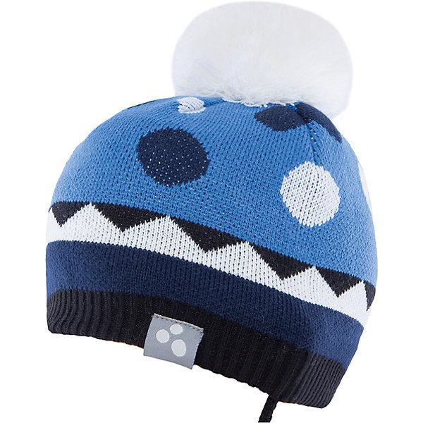 Шапка Huppa Peeta для мальчикаГоловные уборы<br>Характеристики товара:<br><br>• модель: Peeta;<br>• цвет: синий;<br>• состав: 100% акрил; <br>• подкладка; 100% хлопок;<br>• температурный режим: от 0°С до -20°С;<br>• особенности: вязаная, с помпоном;<br>• мягкая резинка;<br>• шапка на завязках;<br>• светоотражающий элемент;<br>• страна бренда: Эстония;<br>• страна изготовитель: Эстония.<br><br>Вязаная шапка Peeta Huppa (Хуппа) плотно прилегает к голове и хорошо защищает от морозов и ветра. Подкладка из хлопка не вызовет раздражения на коже. Шапочка украшена помпоном и геометрическим орнаментом. Есть светоотражающие элементы.<br><br>Шапку Peeta от бренда Huppa (Хуппа) можно купить в нашем интернет-магазине.<br>Ширина мм: 89; Глубина мм: 117; Высота мм: 44; Вес г: 155; Цвет: синий; Возраст от месяцев: 9; Возраст до месяцев: 12; Пол: Мужской; Возраст: Детский; Размер: 43-45,47-49,51-53; SKU: 4928930;