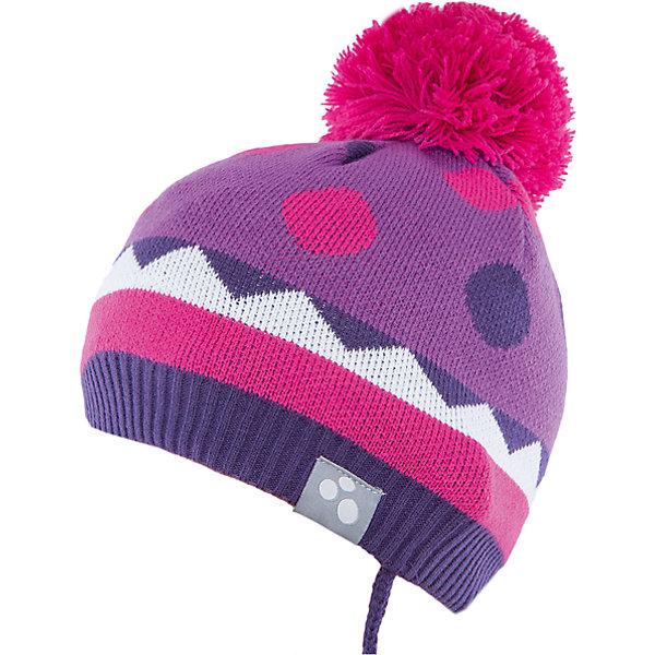 Шапка Huppa Peeta для девочкиГоловные уборы<br>Характеристики товара:<br><br>• модель: Peeta;<br>• цвет: фиолетовый;<br>• состав: 100% акрил; <br>• подкладка; 100% хлопок;<br>• температурный режим: от 0°С до -20°С;<br>• особенности: вязаная, с помпоном;<br>• мягкая резинка;<br>• шапка на завязках;<br>• светоотражающий элемент;<br>• страна бренда: Эстония;<br>• страна изготовитель: Эстония.<br><br>Вязаная шапка Peeta Huppa (Хуппа) плотно прилегает к голове и хорошо защищает от морозов и ветра. Подкладка из хлопка не вызовет раздражения на коже. Шапочка украшена помпоном и геометрическим орнаментом. Есть светоотражающие элементы.<br><br>Шапку Peeta от бренда Huppa (Хуппа) можно купить в нашем интернет-магазине.<br>Ширина мм: 89; Глубина мм: 117; Высота мм: 44; Вес г: 155; Цвет: лиловый; Возраст от месяцев: 9; Возраст до месяцев: 12; Пол: Женский; Возраст: Детский; Размер: 43-45,51-53,47-49; SKU: 4928934;