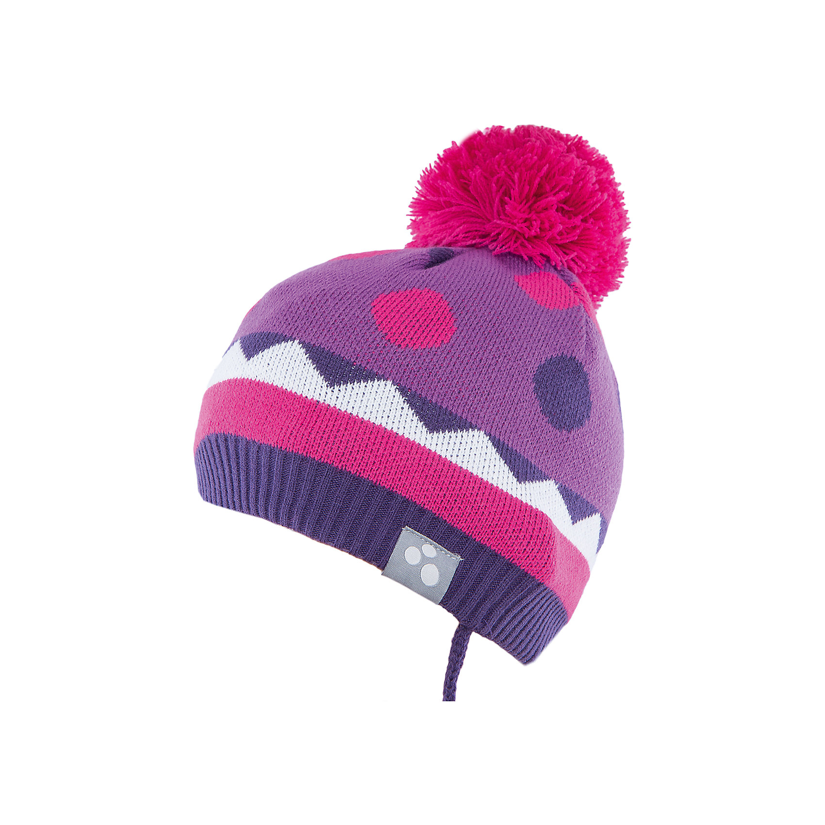 Шапка  HuppaВязаная шапка PEETA Huppa(Хуппа) плотно прилегает к голове и хорошо защищает от морозов и ветра. Подкладка из хлопка не вызовет раздражения на коже. Шапочка украшена помпоном и геометрическим орнаментом. Есть светоотражающие элементы. В такой шапке гулять будет тепло и комфортно!<br><br>Дополнительная информация:<br>Материал: 100% акрил<br>Подкладка: 100% хлопок<br>Цвет: лиловый/фуксия<br><br>Вы можете приобрести шапку PEETA Huppa(Хуппа) в нашем интернет-магазине.<br><br>Ширина мм: 89<br>Глубина мм: 117<br>Высота мм: 44<br>Вес г: 155<br>Цвет: фиолетовый<br>Возраст от месяцев: 9<br>Возраст до месяцев: 12<br>Пол: Женский<br>Возраст: Детский<br>Размер: 43-45,51-53,47-49<br>SKU: 4928934