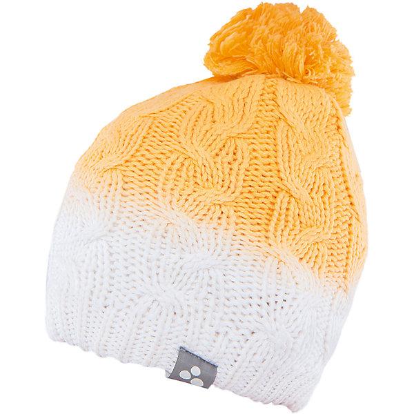 Шапка Huppa Lucca для девочкиЗимние<br>Характеристики товара:<br><br>• модель: Lucca;<br>• цвет: оранжевый/белый;<br>• состав: 55% хлопок, 45% акрил; <br>• температурный режим: от 0°С до -20°С;<br>• особенности: вязаная, с помпоном;<br>• мягкая резинка;<br>• эффект градиента;<br>• светоотражающий элемент;<br>• страна бренда: Эстония;<br>• страна изготовитель: Эстония.<br><br>Вязаная шапка Lucca Huppa (Хуппа) изготовлена из качественных материалов и обеспечит вашему ребенку тепло и комфорт. Шапка украшена помпоном, вязаными косичками и интересным рисунком с эффектом градиента. Шапка плотно прилегает к голове благодаря резинке по краю.<br><br>Шапку Lucca от бренда Huppa (Хуппа) можно купить в нашем интернет-магазине.<br><br>Ширина мм: 89<br>Глубина мм: 117<br>Высота мм: 44<br>Вес г: 155<br>Цвет: желтый<br>Возраст от месяцев: 84<br>Возраст до месяцев: 120<br>Пол: Женский<br>Возраст: Детский<br>Размер: 55-57,55-57,51-53<br>SKU: 4928942