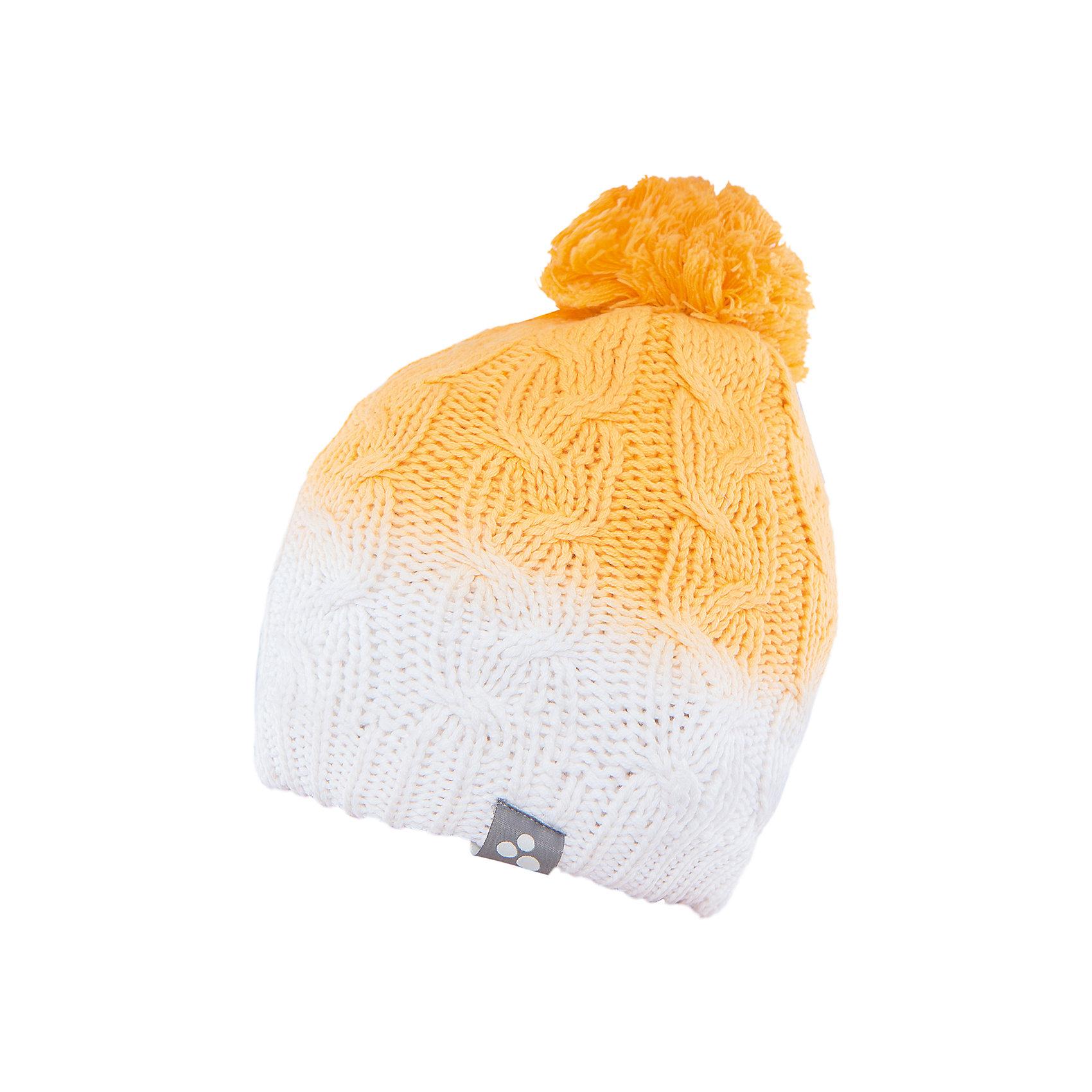 Шапка  HuppaГоловные уборы<br>Вязаная шапка LUCCA Huppa(Хуппа) изготовлена из качественных материалов и обеспечит вашему ребенку тепло и комфорт. Шапка украшена помпоном, вязаными косичками и интересным рисунком с эффектом градиента. Шапка плотно прилегает к голове благодаря резинке по краю.<br><br>Дополнительная информация:<br>Материал: 45% акрил, 55% хлопок<br>Цвет: желтый/белый<br><br>Вы можете приобрести шапку LUCCA Huppa(Хуппа) в нашем интернет-магазине.<br><br>Ширина мм: 89<br>Глубина мм: 117<br>Высота мм: 44<br>Вес г: 155<br>Цвет: желтый<br>Возраст от месяцев: 132<br>Возраст до месяцев: 144<br>Пол: Женский<br>Возраст: Детский<br>Размер: 55-57,55-57,51-53<br>SKU: 4928942