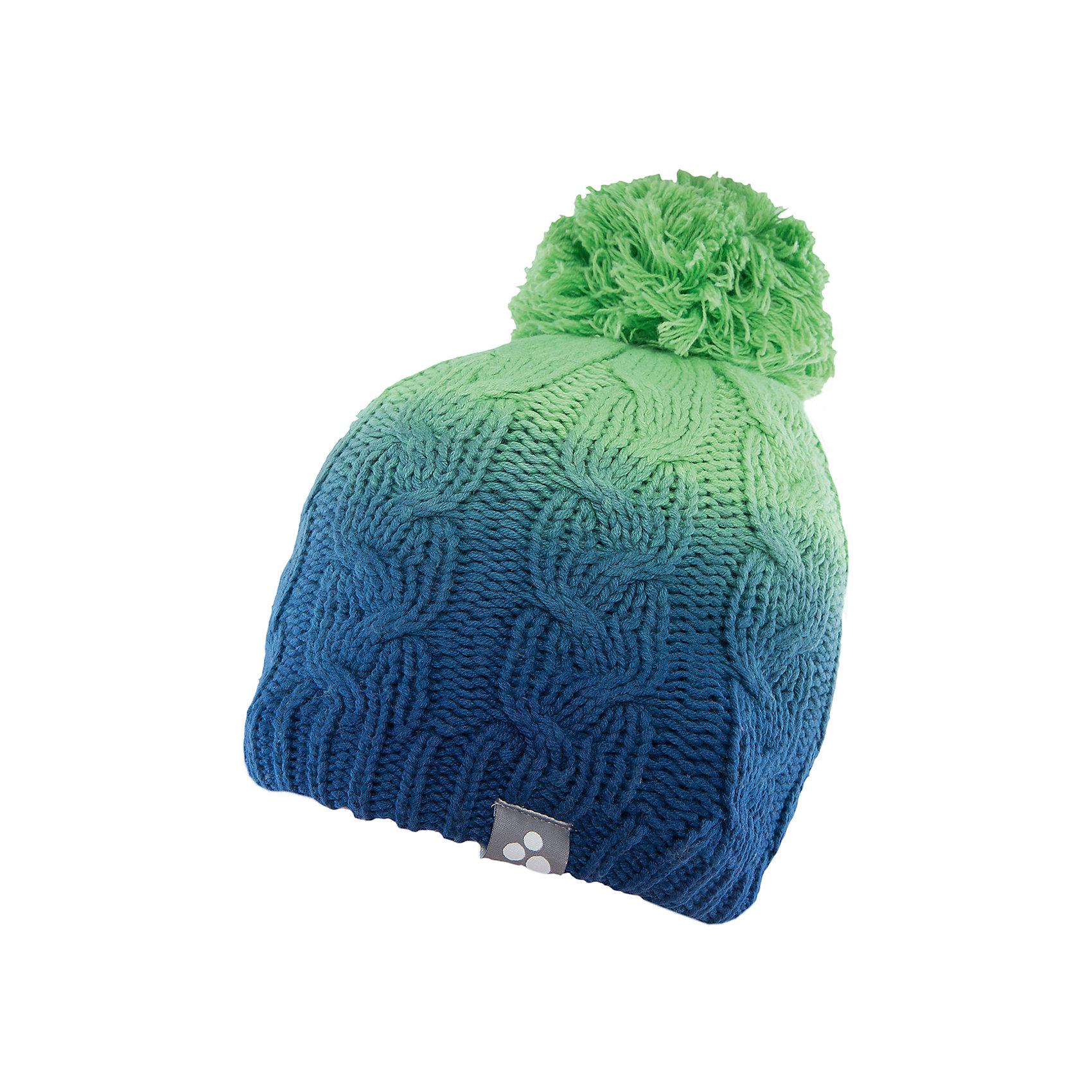Шапка  HuppaГоловные уборы<br>Вязаная шапка LUCCA Huppa(Хуппа) изготовлена из качественных материалов и обеспечит вашему ребенку тепло и комфорт. Шапка украшена помпоном, вязаными косичками и интересным рисунком с эффектом градиента. Шапка плотно прилегает к голове благодаря резинке по краю.<br><br>Дополнительная информация:<br>Материал: 45% акрил, 55% хлопок<br>Цвет: зеленый/темно-синий<br><br>Вы можете приобрести шапку LUCCA Huppa(Хуппа) в нашем интернет-магазине.<br><br>Ширина мм: 89<br>Глубина мм: 117<br>Высота мм: 44<br>Вес г: 155<br>Цвет: зеленый<br>Возраст от месяцев: 132<br>Возраст до месяцев: 144<br>Пол: Унисекс<br>Возраст: Детский<br>Размер: 57,55-57,51-53<br>SKU: 4928950