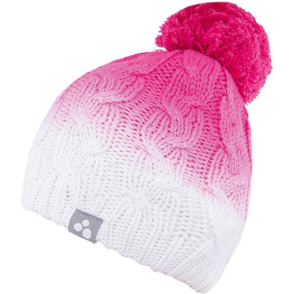 Шапка  HuppaЗимние<br>Вязаная шапка LUCCA Huppa(Хуппа) изготовлена из качественных материалов и обеспечит вашему ребенку тепло и комфорт. Шапка украшена помпоном, вязаными косичками и интересным рисунком с эффектом градиента. Шапка плотно прилегает к голове благодаря резинке по краю.<br><br>Дополнительная информация:<br>Материал: 45% акрил, 55% хлопок<br>Цвет: фуксия/белый<br><br>Вы можете приобрести шапку LUCCA Huppa(Хуппа) в нашем интернет-магазине.<br><br>Ширина мм: 89<br>Глубина мм: 117<br>Высота мм: 44<br>Вес г: 155<br>Цвет: розовый<br>Возраст от месяцев: 132<br>Возраст до месяцев: 144<br>Пол: Женский<br>Возраст: Детский<br>Размер: 57,55-57,51-53<br>SKU: 4928954