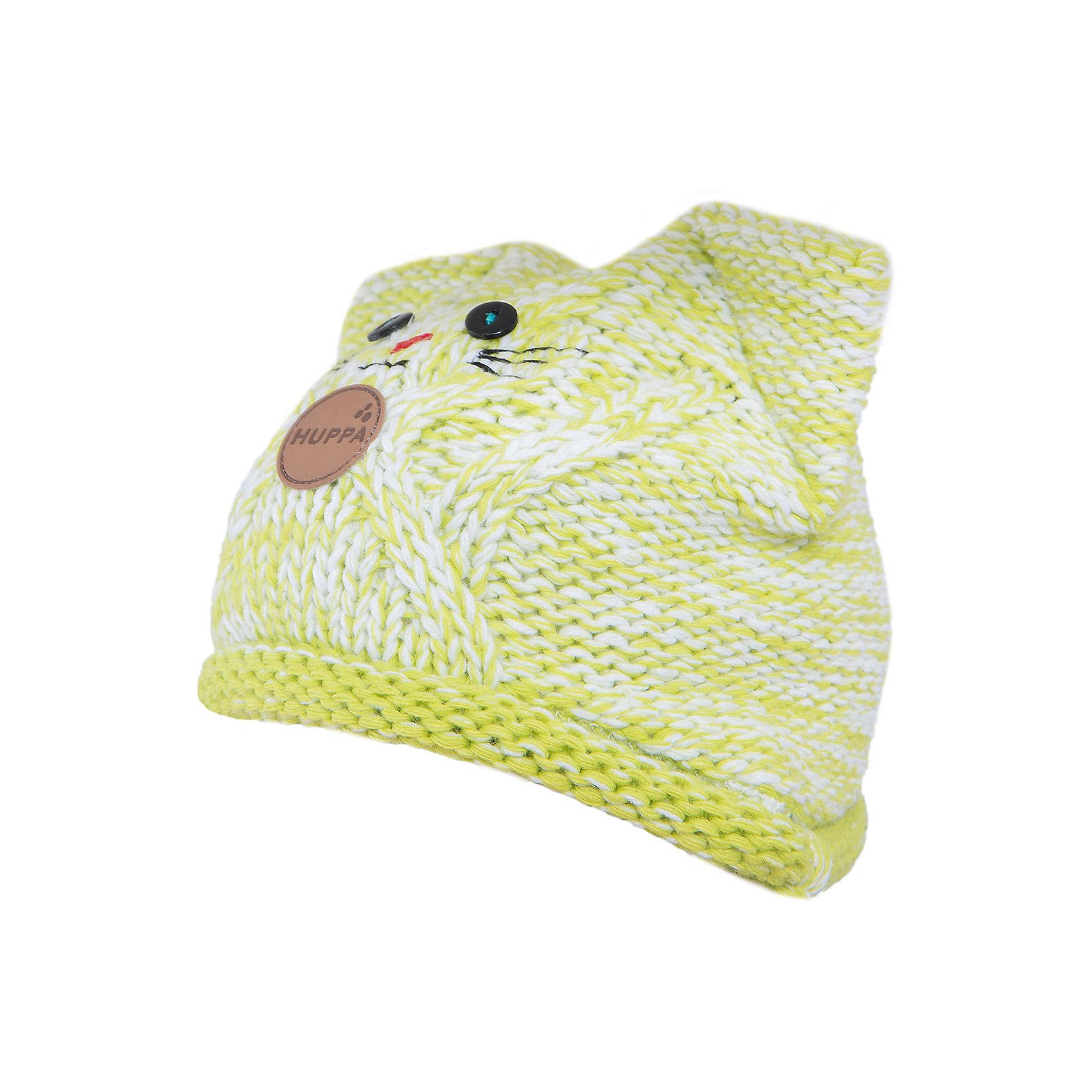 Шапка  HuppaГоловные уборы<br>Вязаная шапка MATTIA от Huppa(Хуппа) изготовлена из шерсти и акрила. Подкладка из натурального хлопка, приятного телу. Выступы для ушек и удобные завязки надежно защитят ребенка от ветра. В этой шапке девочка точно не замерзнет, а милый дизайн с мордочкой котика всегда будет радовать глаз!<br><br>Дополнительная информация:<br>Цвет: салатовый/белый<br>Материал: 50% мериносовая шерсть, 50% акрил<br>Подкладка: 100% хлопок<br><br>Шапку MATTIA Huppa(Хуппа) можно купить в нашем интернет-магазине.<br><br>Ширина мм: 89<br>Глубина мм: 117<br>Высота мм: 44<br>Вес г: 155<br>Цвет: зеленый<br>Возраст от месяцев: 84<br>Возраст до месяцев: 120<br>Пол: Женский<br>Возраст: Детский<br>Размер: 55-57,47-49,51-53<br>SKU: 4928958