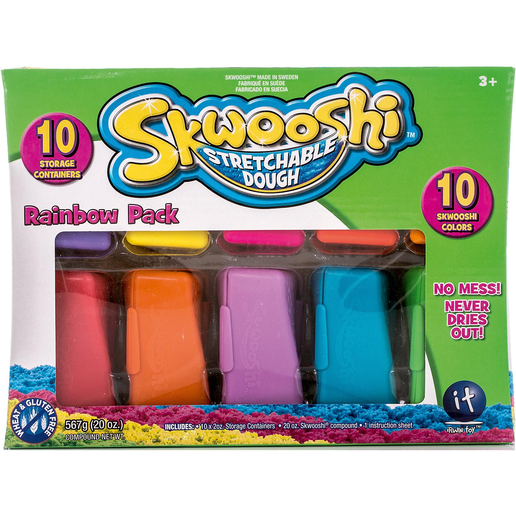Skwooshi Масса для лепки в контейнерах, 10 цветов skwooshi набор для лепки с аксессуарами бургер