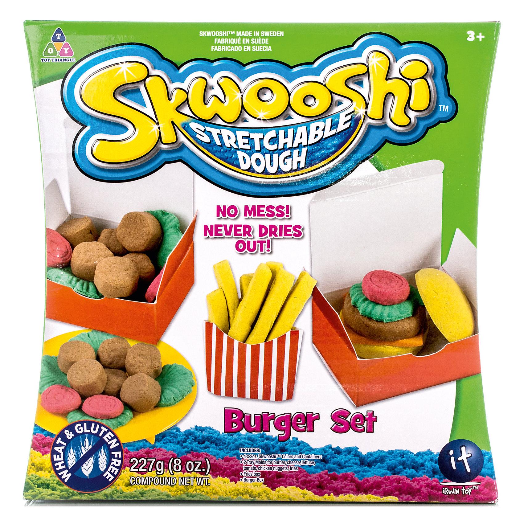Skwooshi Набор для лепки с аксессуарами Бургер skwooshi s30000 сквуши пакетик с формочкой и массой для лепки 28 г