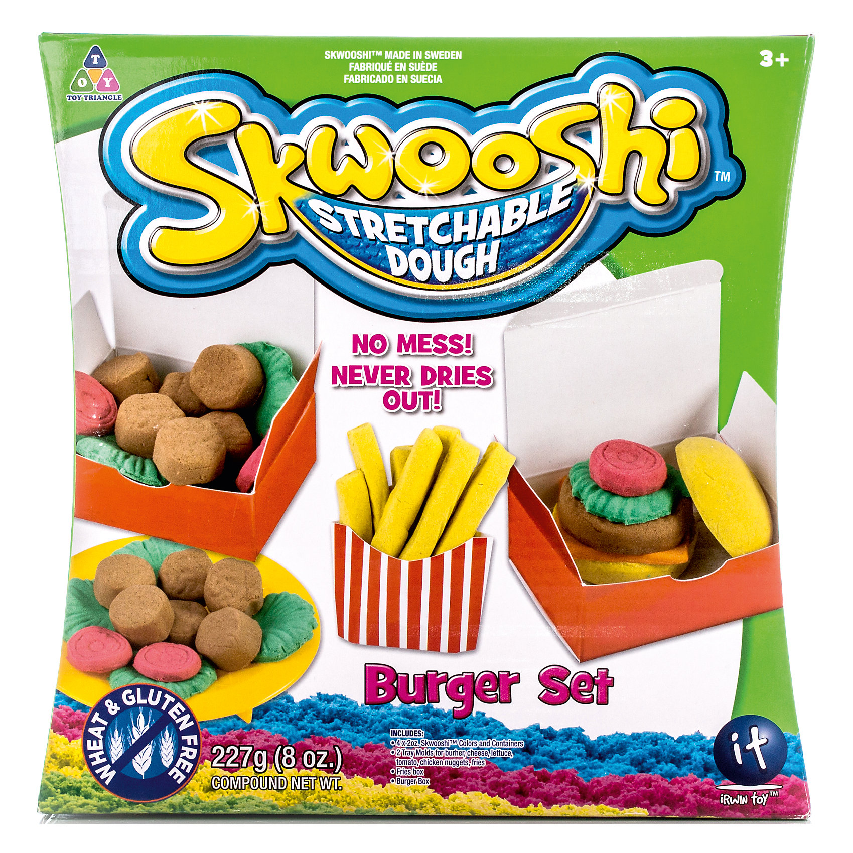 Skwooshi Набор для лепки с аксессуарами Бургер skwooshi набор для лепки с аксессуарами бургер