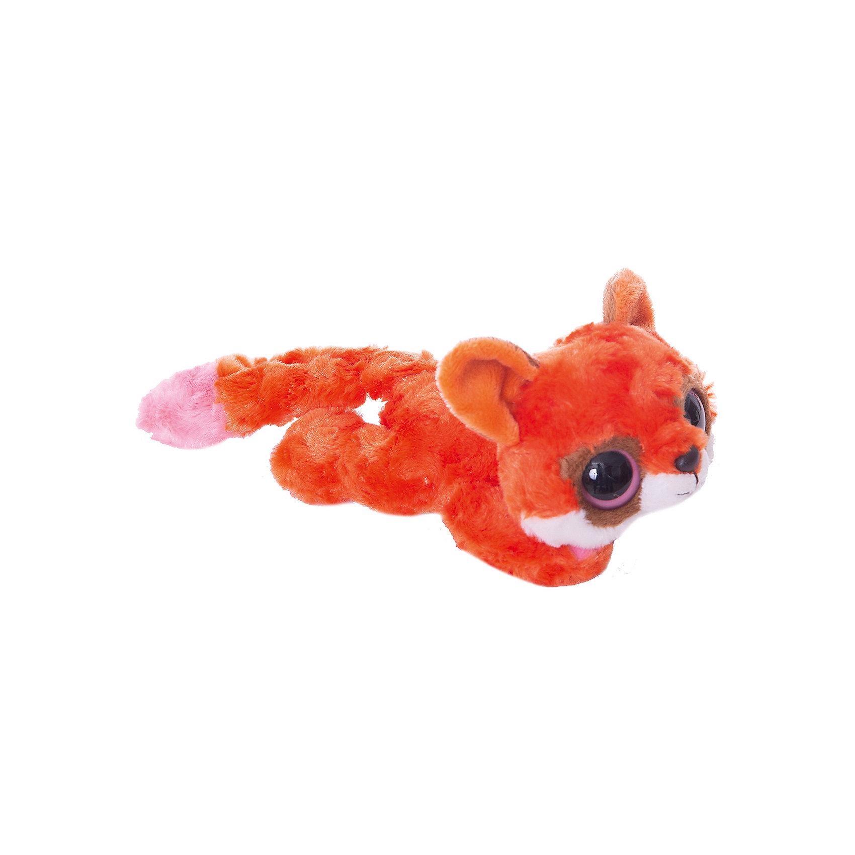 AURORA Мягкая игрушка Лисица красная лежачая, 16 см, Юху и друзья, AURORA мягкая игрушка лисица aurora юху и друзья фенек плюш белый розовый 12 см