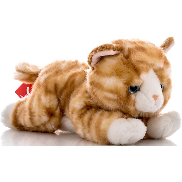 Мягкая игрушка Котенок рыжий, 28 см, AURORAМягкие игрушки животные<br>Красивый котик с бело-рыжей шерсткой, обязательно понравится Вашему ребенку! Котик невероятно мягкий, у него забавный хвостик и милый розовый носик, а еще, у котика очаровательные глазки.<br><br>Дополнительная информация:<br><br>- Возраст: от 3 лет.<br>- Материал: плюш, синтепон.<br>- Цвет: рыжий.<br>- Высота игрушки: 28 см.<br><br>Купить мягкую игрушку Котик можно в нашем магазине.<br>Ширина мм: 100; Глубина мм: 250; Высота мм: 130; Вес г: 229; Возраст от месяцев: 36; Возраст до месяцев: 120; Пол: Унисекс; Возраст: Детский; SKU: 4929032;