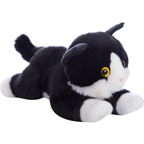 Мягкая игрушка Котенок черный, 28 см, AURORAМягкие игрушки животные<br>Красивый котик с черно-белой шерсткой, обязательно понравится Вашему ребенку! Котик невероятно мягкий, у него черный хвостик и милый розовый носик, а еще, у котика очаровательные глазки.<br><br>Дополнительная информация:<br><br>- Возраст: от 3 лет.<br>- Материал: плюш, синтепон.<br>- Цвет: черный.<br>- Высота игрушки: 28 см.<br><br>Купить мягкую игрушку Котик можно в нашем магазине.<br><br>Ширина мм: 280<br>Глубина мм: 110<br>Высота мм: 140<br>Вес г: 240<br>Возраст от месяцев: 36<br>Возраст до месяцев: 120<br>Пол: Унисекс<br>Возраст: Детский<br>SKU: 4929033