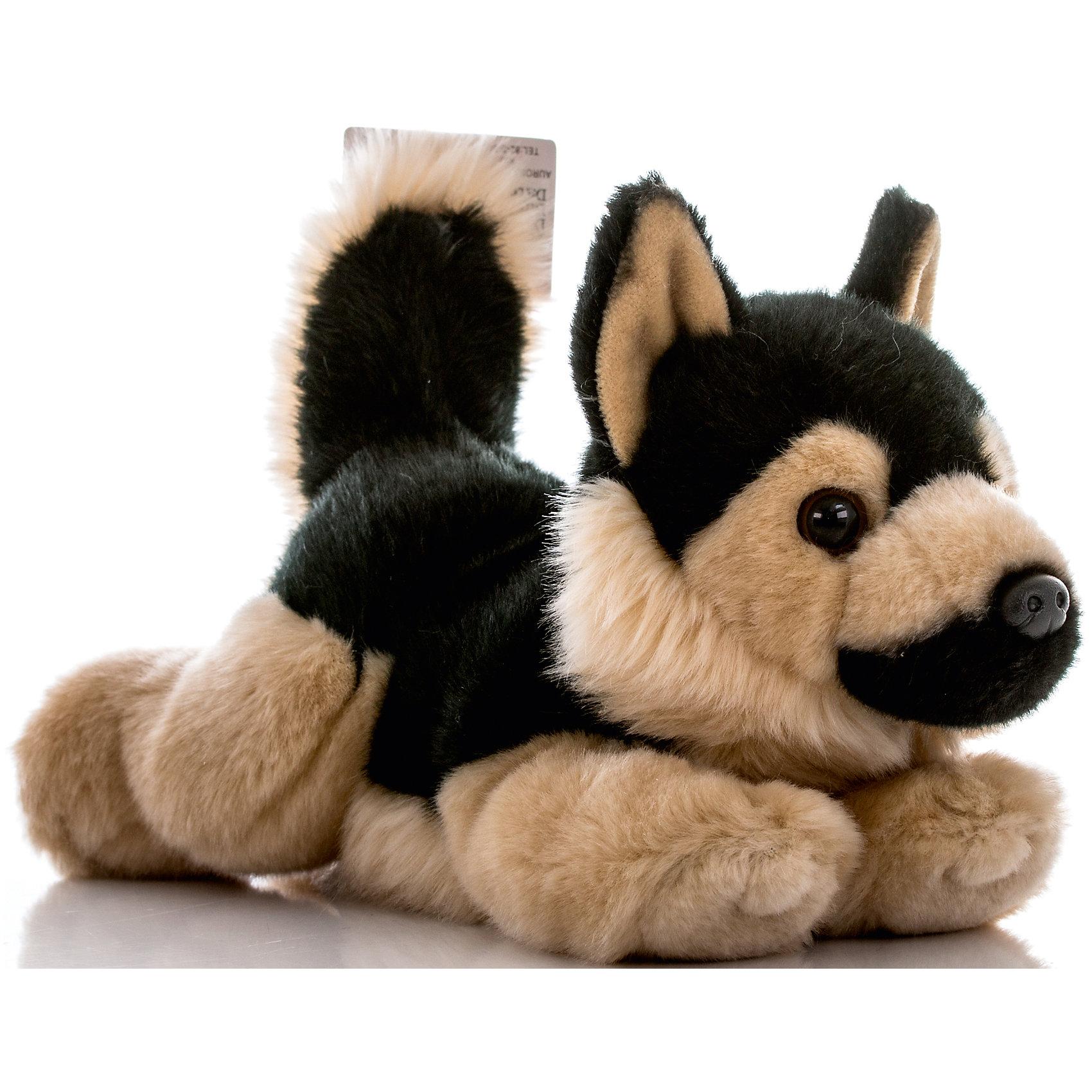 AURORA Мягкая игрушка Немецкая Овчарка, 28 см, AURORA купить щенка немецкая овчарки белого окраса цена видео картинки