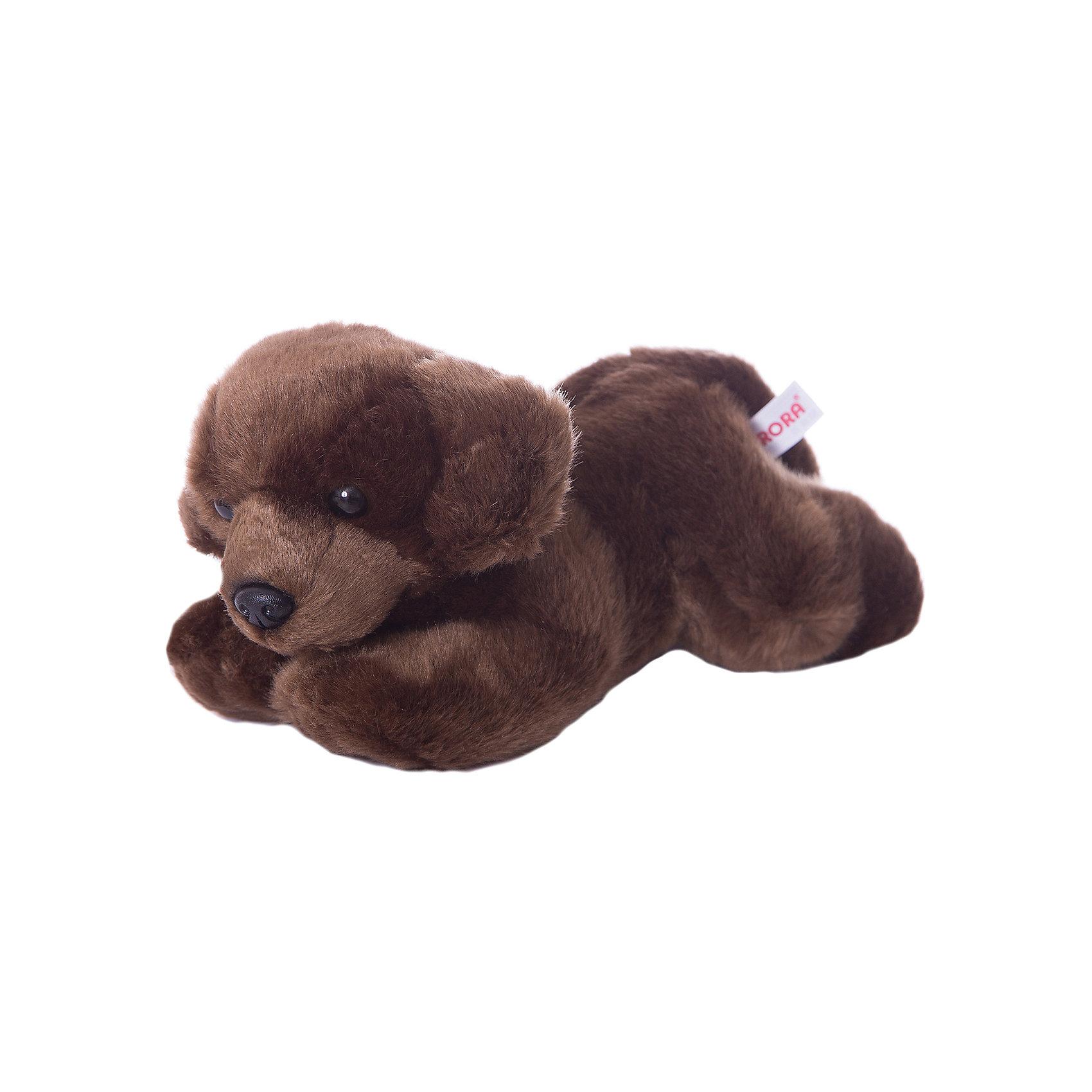 AURORA Мягкая игрушка Шоколадный лабрадор, 28 см, AURORA aurora мягкая игрушка тигр 28 см