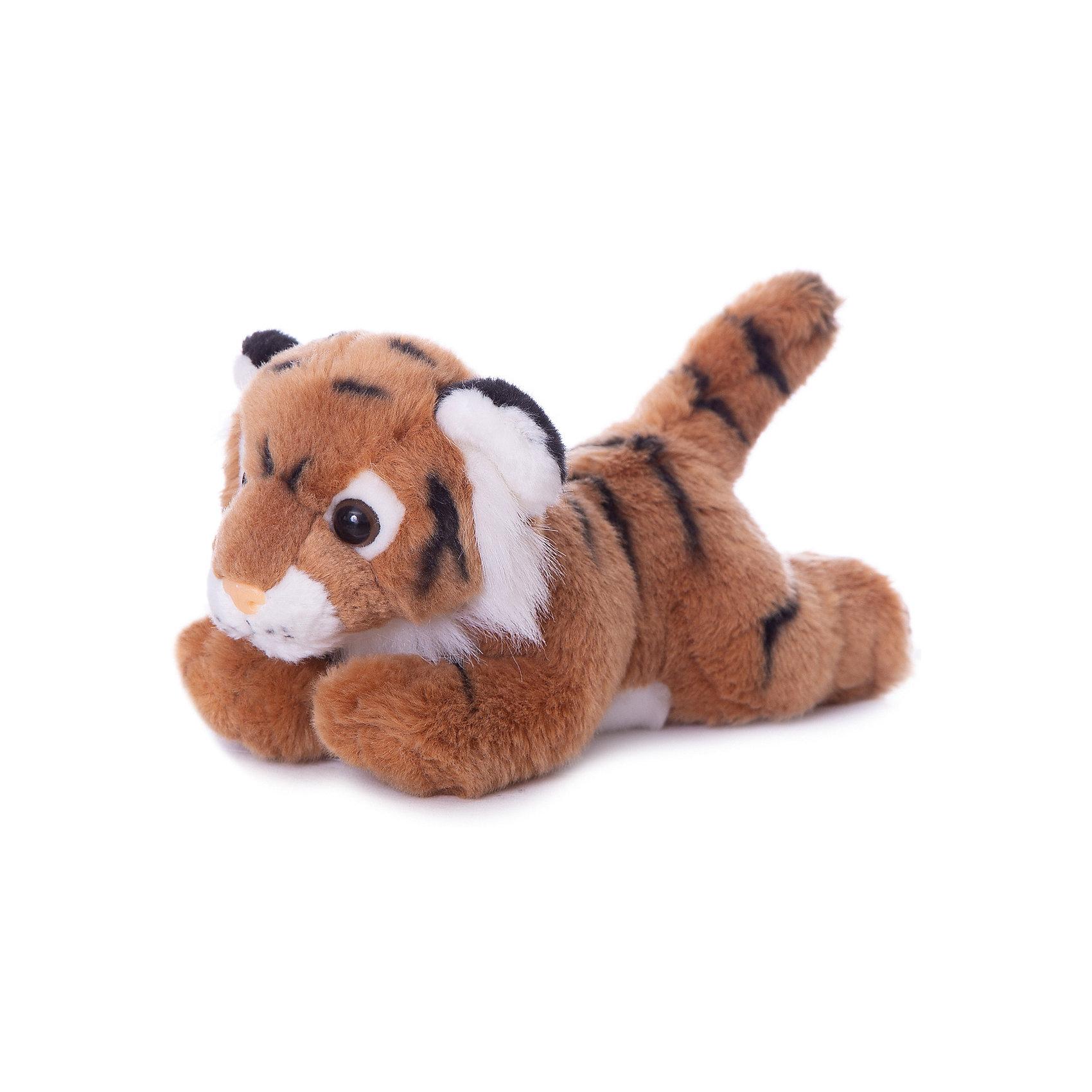 AURORA Мягкая игрушка Тигр коричневый, 28 см, AURORA aurora мягкая игрушка тигр 28 см