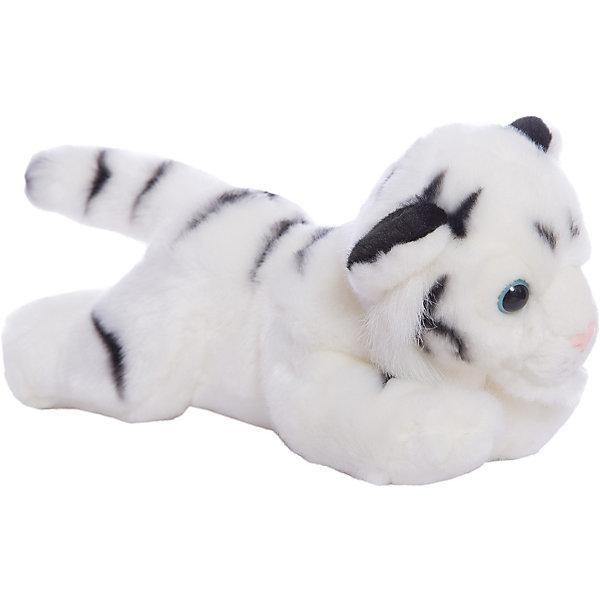 Мягкая игрушка Тигр белый, 28 см, AURORAМягкие игрушки животные<br>Характеристики:<br><br>• вес: 275г.;<br>• материал: плюш, синтепон;<br>• упаковка: пакет;<br>• размер игрушки:28см.;<br>• для детей в возрасте: от 3 лет;<br>• страна производитель: Южная Корея.<br><br>Мягкая игрушка «Тигр белый» бренда «AURORA» (Аврора) станет желанным подарком для маленьких девчонок и мальчишек. Она создана из качественных, не аллергенных материалов, что очень важно для детских товаров.<br><br>Милая плюшевая игрушка с шикарной шубкой привлечёт внимание любого ребёнка. Игрушка имеет оптимальный размер, её рост составляет двадцать восемь сантиметров. У неё мягкое тельце, блестящий чёрный носик и большие глазки. Тигра можно брать с собой в путешествия и на прогулки, чтобы показывать подружкам и играть вместе сними. Игрушка надолго останется любимицей малыша, она не линяет и не деформируется даже при машинной стирке.<br><br>Играя, с мягкими игрушками дети получают позитивные тактильные ощущения, хорошо успокаиваются и засыпают.<br><br>Мягкую игрушку «Тигр белый» можно купить в нашем интернет-магазине.<br>Ширина мм: 280; Глубина мм: 110; Высота мм: 140; Вес г: 239; Возраст от месяцев: 36; Возраст до месяцев: 120; Пол: Унисекс; Возраст: Детский; SKU: 4929045;
