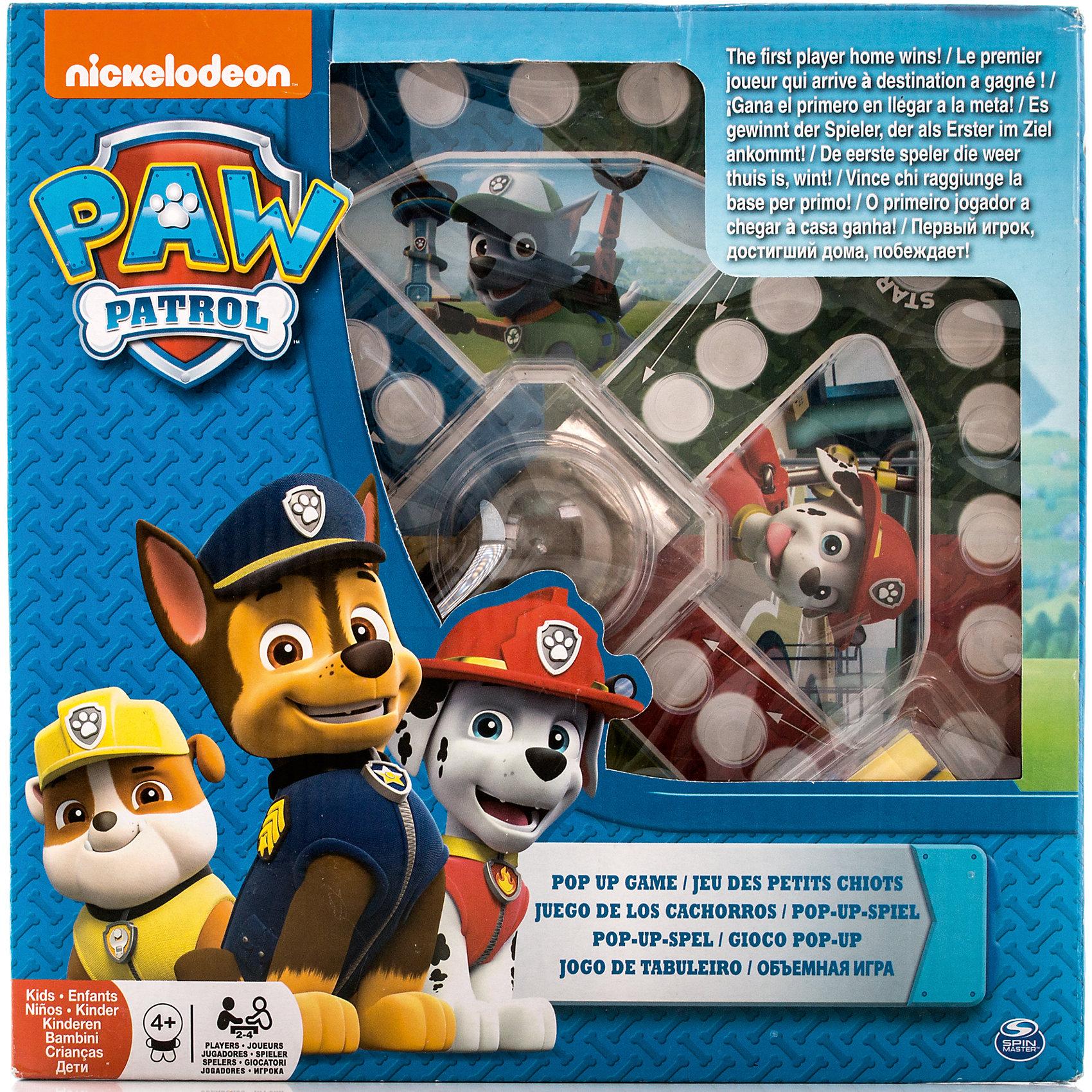 Настольная игра с кубиком и фишками, Щенячий Патруль, Spin Master
