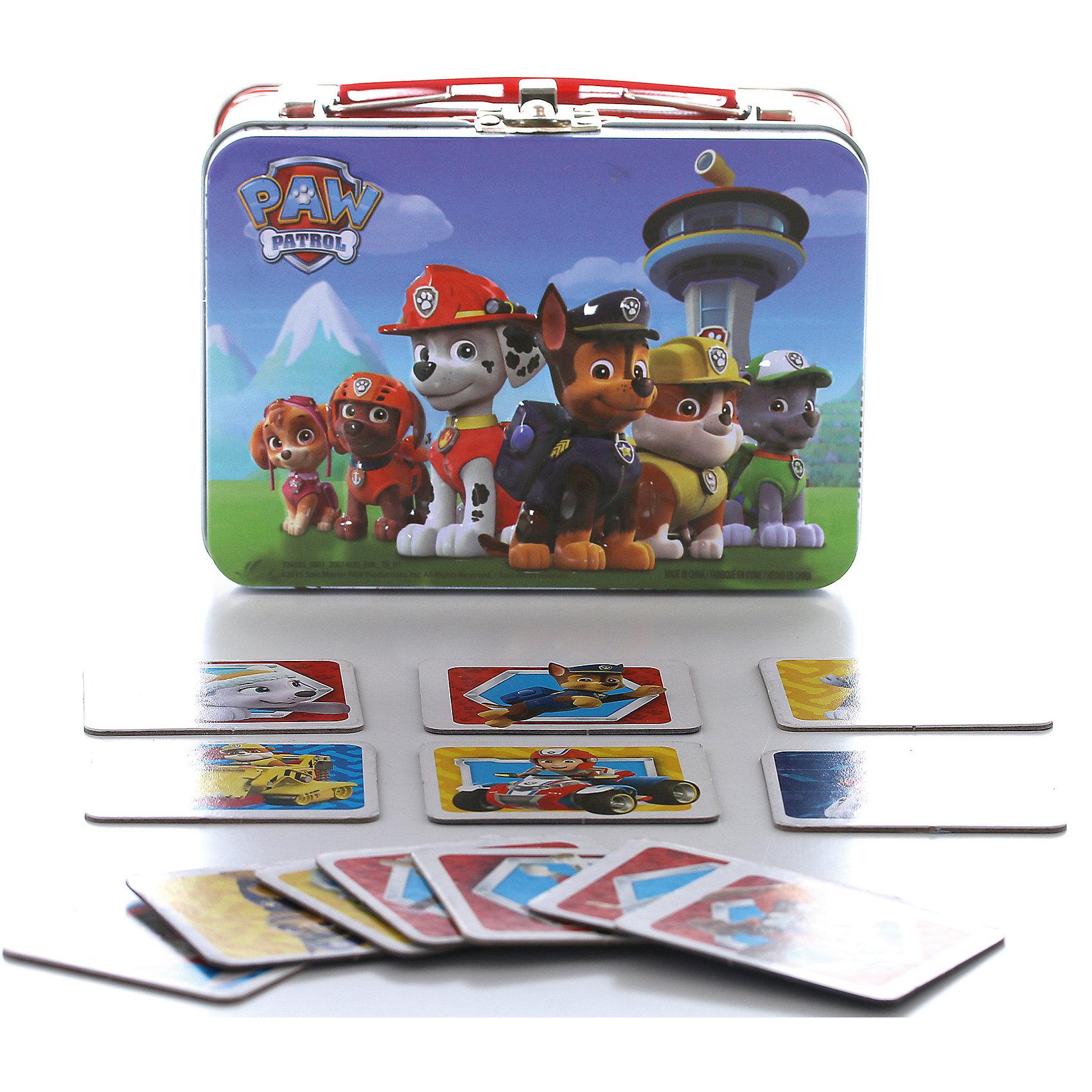 Настольная игра Мемори, Щенячий Патруль, 72 карточки, Spin MasterТренируем память<br>Мемори - прекрасная настольная игра для Вашего ребенка! Игра состоит из 72 карточек на которых изображены герои мультфильма. Смысл игры: нужное количество парных карточек разложить на столе в случайном порядке рубашкой вверх. Игрокам нужно по очереди открывать по две карточки, если при этом он открывает одинаковые изображения, то забирает карточки себе. Если же открылись разные, игроки запоминают их расположение и переворачивают обратно рубашкой вверх. Цель игры - найти как можно больше пар. Игра очень увлекательна и в то же время полезна тем, что способствует развитию памяти у малыша.<br><br>Дополнительная информация:<br><br>- Возраст: от 3 лет.<br>- В наборе 72 карточки.<br>- Материал: картон.<br>- Размер упаковки: 14х7х11 см.<br>- Вес в упаковке: 250 г.<br><br>Купить настольную игру Мемори 72 карточки Щенячий Патруль, можно в нашем магазине.<br><br>Ширина мм: 145<br>Глубина мм: 70<br>Высота мм: 130<br>Вес г: 388<br>Возраст от месяцев: 36<br>Возраст до месяцев: 84<br>Пол: Унисекс<br>Возраст: Детский<br>SKU: 4929078