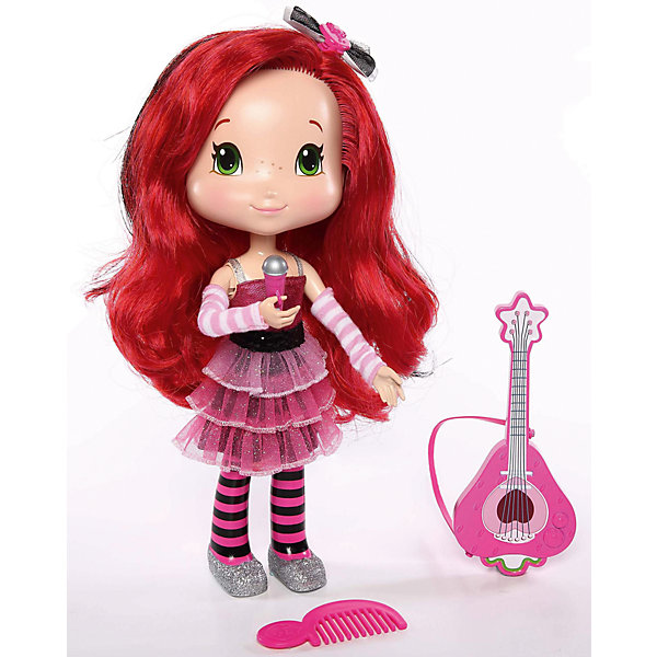 Поющая кукла Земляничка, 28 см, с аксессуарами, The BridgeБренды кукол<br>Милая кукла Земляничка обязательно понравится Вашей девочке! У куколки красивые длинные волосы, из которые можно сделать самые разнообразные прически. А еще, Земляничка может петь и произносить фразы из мультфильма.<br><br>В наборе:  кукла Земляничка, гитара, микрофон, расческа, бантик для волос и пропуск на шоу.<br><br>Дополнительная информация:<br><br>- Возраст: от 3 лет.<br>- Материал: пластик, текстиль.<br>- 3 батарейки (входят в комплект).<br>- Размер куклы: 28 см.<br>- Размер упаковки: 33x28x9  см.<br><br>Купить поющую куклу Земляничка с аксессуарами, можно в нашем магазине.<br><br>Ширина мм: 285<br>Глубина мм: 90<br>Высота мм: 330<br>Вес г: 803<br>Возраст от месяцев: 36<br>Возраст до месяцев: 120<br>Пол: Женский<br>Возраст: Детский<br>SKU: 4929084