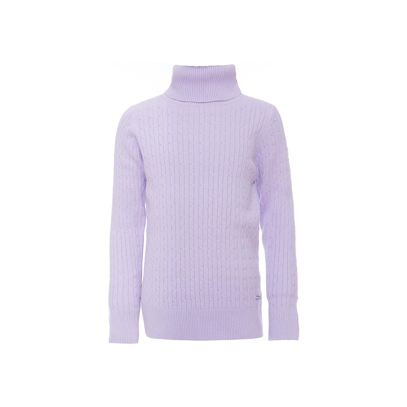Водолазка для девочки LuminosoВодолазки<br>Характеристики товара:<br><br>- цвет: лиловый;<br>- материал: 95% хлопок,5% эластан;<br>- качественная пряжа;<br>- резинка по низу и на рукавах;<br>- длинный рукав;<br>- вязаный узор;<br>- высокий ворот.<br><br>Стильная одежда от бренда Luminoso (Люминосо), созданная при участии итальянских дизайнеров, учитывает потребности подростков и последние веяния моды. Она удобная и модная.<br>Эта тонкая вязаная водолазка идеальна для прохладной погоды. Она хорошо сидит на ребенке, обеспечивает комфорт и отлично сочетается с одежной разных стилей. Модель отличается высоким качеством пряжи и продуманным дизайном.<br><br>Водолазку для девочки от бренда Luminoso (Люминосо) можно купить в нашем интернет-магазине.<br><br>Ширина мм: 230<br>Глубина мм: 40<br>Высота мм: 220<br>Вес г: 250<br>Цвет: фиолетовый<br>Возраст от месяцев: 108<br>Возраст до месяцев: 120<br>Пол: Женский<br>Возраст: Детский<br>Размер: 140,158,164,146,134,152<br>SKU: 4929479