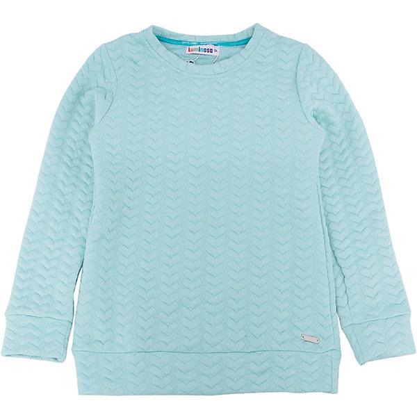Толстовка для девочки LuminosoТолстовки<br>Характеристики товара:<br><br>- цвет: голубой;<br>- материал: 60% хлопок, 40% акрил;<br>- плотный фактурный трикотаж;<br>- длинный рукав;<br>- округлый горловой вырез.<br><br>Стильная одежда от бренда Luminoso (Люминосо), созданная при участии итальянских дизайнеров, учитывает потребности подростков и последние веяния моды. Она удобная и модная.<br>Эта стильная толстовка идеальна для прохладной погоды. Он хорошо сидит на ребенке, обеспечивает комфорт и отлично сочетается с одежной разных стилей. Модель отличается высоким качеством материала и продуманным дизайном.<br><br>Толстовку для девочки от бренда Luminoso (Люминосо) можно купить в нашем интернет-магазине.<br><br>Ширина мм: 190<br>Глубина мм: 74<br>Высота мм: 229<br>Вес г: 236<br>Цвет: голубой<br>Возраст от месяцев: 132<br>Возраст до месяцев: 144<br>Пол: Женский<br>Возраст: Детский<br>Размер: 152,140,164,158,146,134<br>SKU: 4929493