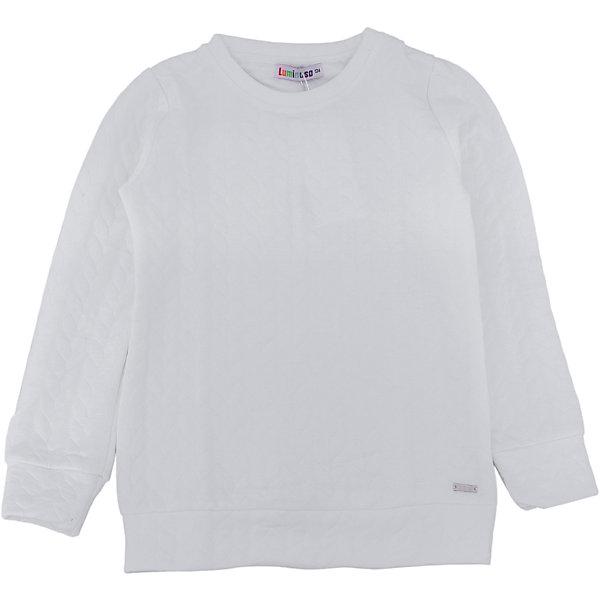 Толстовка для девочки LuminosoТолстовки<br>Характеристики товара:<br><br>- цвет: белый;<br>- материал: 60% хлопок, 40% акрил;<br>- плотный фактурный трикотаж;<br>- длинный рукав;<br>- округлый горловой вырез.<br><br>Стильная одежда от бренда Luminoso (Люминосо), созданная при участии итальянских дизайнеров, учитывает потребности подростков и последние веяния моды. Она удобная и модная.<br>Эта стильная толстовка идеальна для прохладной погоды. Он хорошо сидит на ребенке, обеспечивает комфорт и отлично сочетается с одежной разных стилей. Модель отличается высоким качеством материала и продуманным дизайном.<br><br>Толстовку для девочки от бренда Luminoso (Люминосо) можно купить в нашем интернет-магазине.<br>Ширина мм: 190; Глубина мм: 74; Высота мм: 229; Вес г: 236; Цвет: белый; Возраст от месяцев: 96; Возраст до месяцев: 108; Пол: Женский; Возраст: Детский; Размер: 134,164,158,152,146,140; SKU: 4929500;