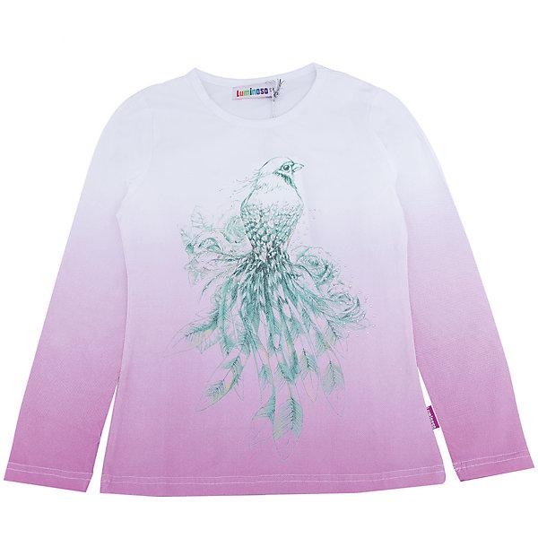 Футболка с длинным рукавом для девочки LuminosoФутболки с длинным рукавом<br>Характеристики товара:<br><br>- цвет: фиолетовый;<br>- материал: 95% хлопок, 5% эластан;<br>- декорирована принтом;<br>- длинный рукав;<br>- округлый горловой вырез.<br><br>Стильная одежда от бренда Luminoso (Люминосо), созданная при участии итальянских дизайнеров, учитывает потребности подростков и последние веяния моды. Она удобная и модная.<br>Эта футболка с длинным рукавом выглядит стильно и нарядно, но при этом подходит для ежедневного ношения. Он хорошо сидит на ребенке, обеспечивает комфорт и отлично сочетается с одежной разных стилей. Модель отличается высоким качеством материала и продуманным дизайном. Натуральный хлопок в составе изделия делает его дышащим, приятным на ощупь и гипоаллергеным.<br><br>Футболку с длинным рукавом для девочки от бренда Luminoso (Люминосо) можно купить в нашем интернет-магазине.<br><br>Ширина мм: 230<br>Глубина мм: 40<br>Высота мм: 220<br>Вес г: 250<br>Цвет: лиловый<br>Возраст от месяцев: 144<br>Возраст до месяцев: 156<br>Пол: Женский<br>Возраст: Детский<br>Размер: 158,134,164,152,146,140<br>SKU: 4929507