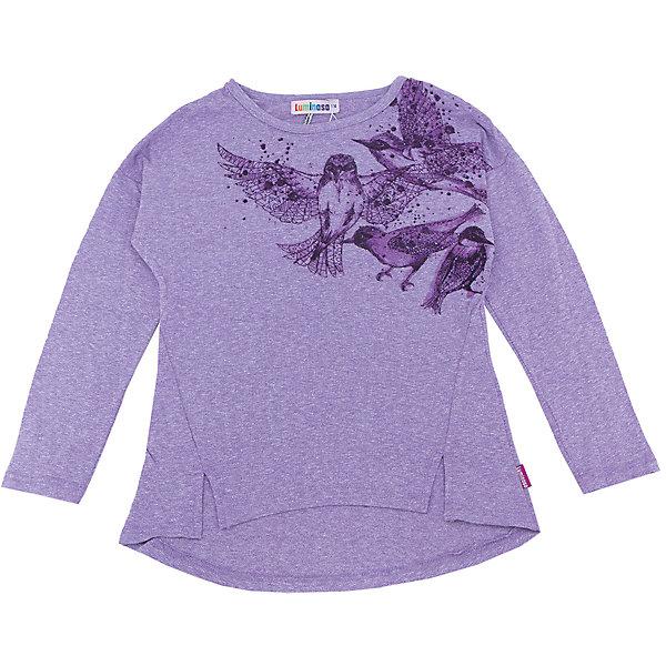 Футболка с длинным рукавом для девочки LuminosoФутболки с длинным рукавом<br>Характеристики товара:<br><br>- цвет: фиолетовый;<br>- материал: 75% хлопок 20%вискоза 5%эластан;<br>- декорирована принтом;<br>- длинный рукав;<br>- округлый горловой вырез.<br><br>Стильная одежда от бренда Luminoso (Люминосо), созданная при участии итальянских дизайнеров, учитывает потребности подростков и последние веяния моды. Она удобная и модная.<br>Эта футболка с длинным рукавом выглядит стильно и нарядно, но при этом подходит для ежедневного ношения. Он хорошо сидит на ребенке, обеспечивает комфорт и отлично сочетается с одежной разных стилей. Модель отличается высоким качеством материала и продуманным дизайном. Натуральный хлопок в составе изделия делает его дышащим, приятным на ощупь и гипоаллергеным.<br><br>Футболку с длинным рукавом для девочки от бренда Luminoso (Люминосо) можно купить в нашем интернет-магазине.<br><br>Ширина мм: 230<br>Глубина мм: 40<br>Высота мм: 220<br>Вес г: 250<br>Цвет: лиловый<br>Возраст от месяцев: 132<br>Возраст до месяцев: 144<br>Пол: Женский<br>Возраст: Детский<br>Размер: 152,134,164,158,146,140<br>SKU: 4929521