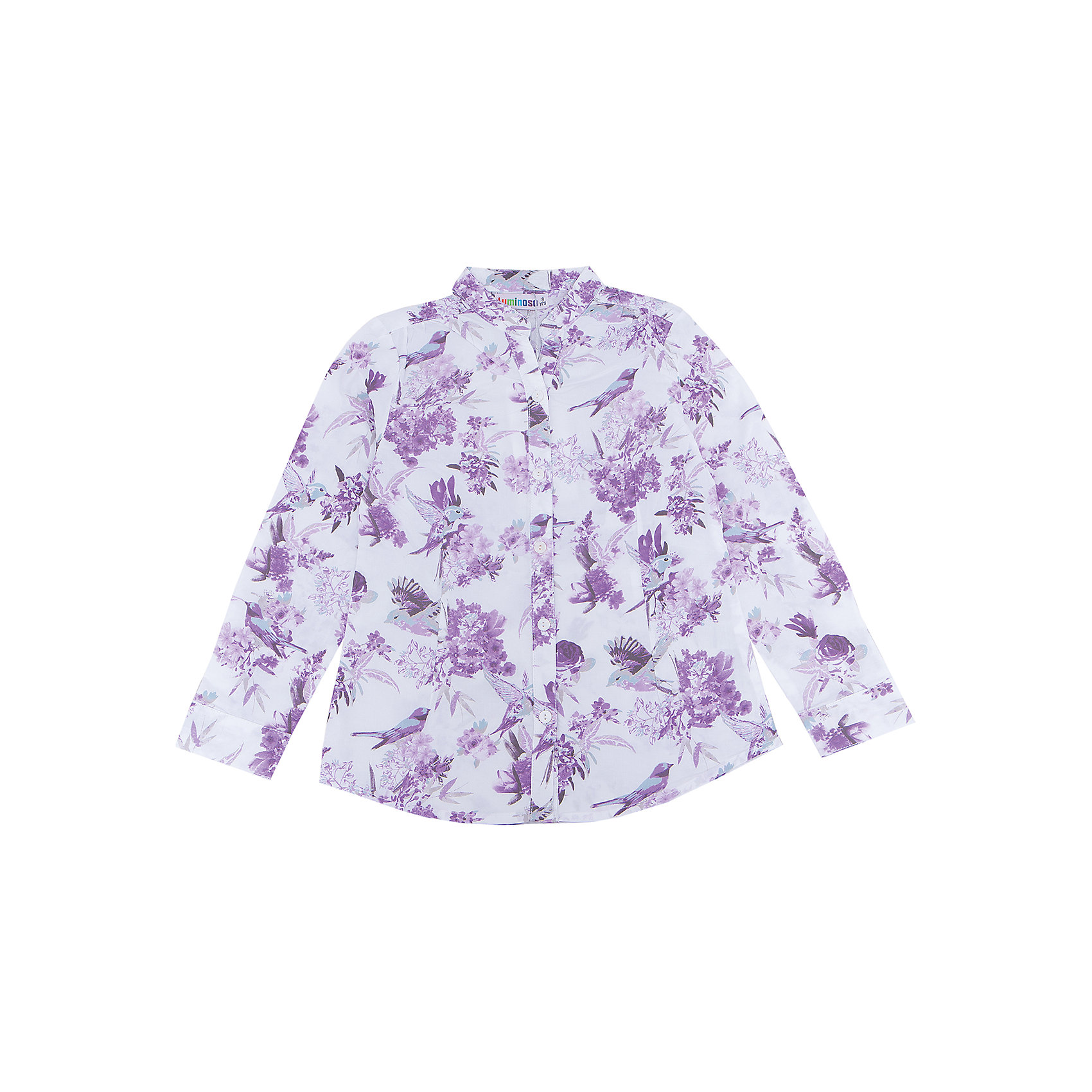 Блузка для девочки LuminosoХарактеристики товара:<br><br>- цвет: белый;<br>- материал: 100% хлопок;<br>- декорирована принтом;<br>- длинный рукав;<br>- застежки кнопки.<br><br>Стильная одежда от бренда Luminoso (Люминосо), созданная при участии итальянских дизайнеров, учитывает потребности подростков и последние веяния моды. Она удобная и модная.<br>Эта хлопковая блузка выглядит стильно и нарядно, но при этом подходит для ежедневного ношения. Он хорошо сидит на ребенке, обеспечивает комфорт и отлично сочетается с одежной разных стилей. Модель отличается высоким качеством материала и продуманным дизайном. Натуральный хлопок в составе изделия делает его дышащим, приятным на ощупь и гипоаллергеным.<br><br>Блузку для девочки от бренда Luminoso (Люминосо) можно купить в нашем интернет-магазине.<br><br>Ширина мм: 186<br>Глубина мм: 87<br>Высота мм: 198<br>Вес г: 197<br>Цвет: белый<br>Возраст от месяцев: 156<br>Возраст до месяцев: 168<br>Пол: Женский<br>Возраст: Детский<br>Размер: 164,140,146,152,158,134<br>SKU: 4929542