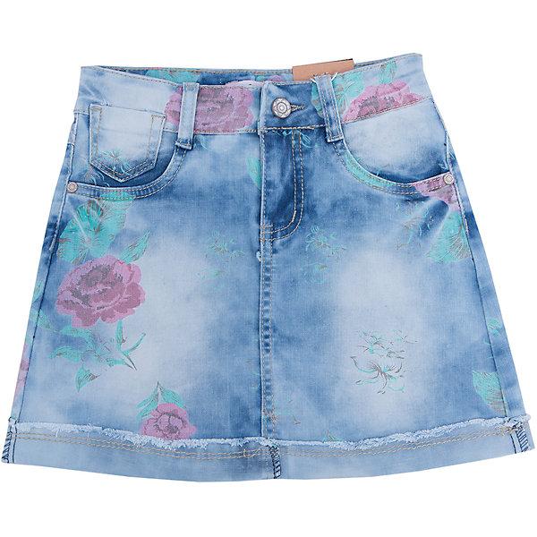 Юбка джинсовая для девочки LuminosoЮбки<br>Джинсовая юбка прямого силуэта с цветочным принтом.  Застежка на пуговицу и молнию. Пояс регулируется  внутренней резинкой на пуговицах.<br>Состав:<br>100% хлопок<br><br>Ширина мм: 207<br>Глубина мм: 10<br>Высота мм: 189<br>Вес г: 183<br>Цвет: голубой<br>Возраст от месяцев: 156<br>Возраст до месяцев: 168<br>Пол: Женский<br>Возраст: Детский<br>Размер: 164,134,158,152,146,140<br>SKU: 4929577