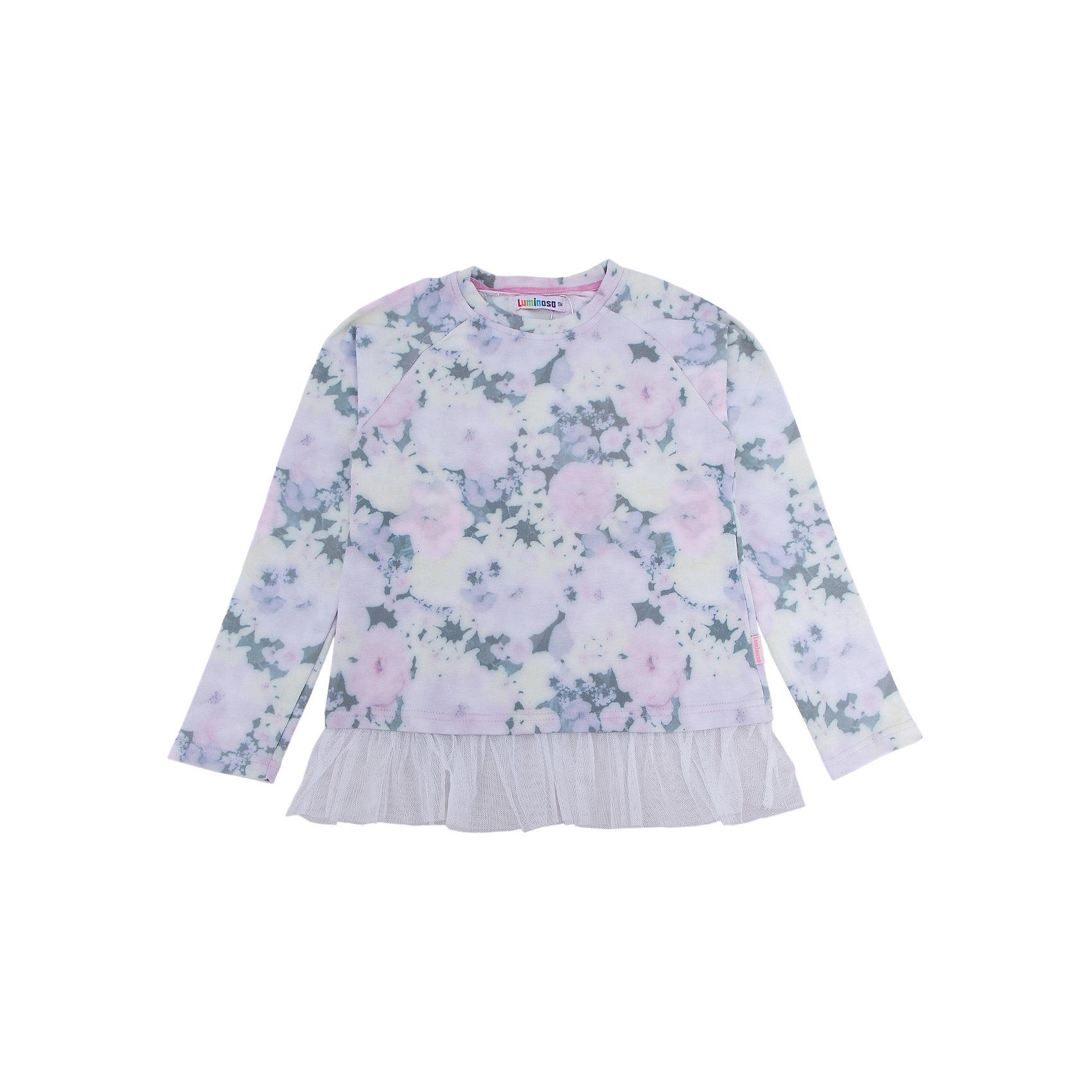 Толстовка для девочки LuminosoТолстовки<br>Характеристики товара:<br><br>- цвет: розовый;<br>- материал: 95% хлопок, 5% эластан;<br>- декорирована принтом и кружевом;<br>- длинный рукав;<br>- округлый горловой вырез.<br><br>Стильная одежда от бренда Luminoso (Люминосо), созданная при участии итальянских дизайнеров, учитывает потребности подростков и последние веяния моды. Она удобная и модная.<br>Эта стильная толстовка идеальна для прохладной погоды. Он хорошо сидит на ребенке, обеспечивает комфорт и отлично сочетается с одежной разных стилей. Модель отличается высоким качеством материала и продуманным дизайном.<br><br>Толстовку для девочки от бренда Luminoso (Люминосо) можно купить в нашем интернет-магазине.<br><br>Ширина мм: 190<br>Глубина мм: 74<br>Высота мм: 229<br>Вес г: 236<br>Цвет: розовый<br>Возраст от месяцев: 132<br>Возраст до месяцев: 144<br>Пол: Женский<br>Возраст: Детский<br>Размер: 152,164,134,140,146,158<br>SKU: 4929591
