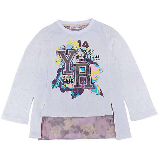 Футболка с длинным рукавом для девочки LuminosoФутболки с длинным рукавом<br>Характеристики товара:<br><br>- цвет: бежевый;<br>- материал: 95% хлопок, 5% эластан;<br>- декорирована принтом;<br>- длинный рукав;<br>- по низу футболки мягкая принтованная сетка.<br><br>Стильная одежда от бренда Luminoso (Люминосо), созданная при участии итальянских дизайнеров, учитывает потребности подростков и последние веяния моды. Она удобная и модная.<br>Эта футболка с длинным рукавом выглядит стильно и нарядно, но при этом подходит для ежедневного ношения. Он хорошо сидит на ребенке, обеспечивает комфорт и отлично сочетается с одежной разных стилей. Модель отличается высоким качеством материала и продуманным дизайном. Натуральный хлопок в составе изделия делает его дышащим, приятным на ощупь и гипоаллергеным.<br><br>Футболку с длинным рукавом для девочки от бренда Luminoso (Люминосо) можно купить в нашем интернет-магазине.<br><br>Ширина мм: 230<br>Глубина мм: 40<br>Высота мм: 220<br>Вес г: 250<br>Цвет: бежевый<br>Возраст от месяцев: 96<br>Возраст до месяцев: 108<br>Пол: Женский<br>Возраст: Детский<br>Размер: 134,164,158,152,146,140<br>SKU: 4929626