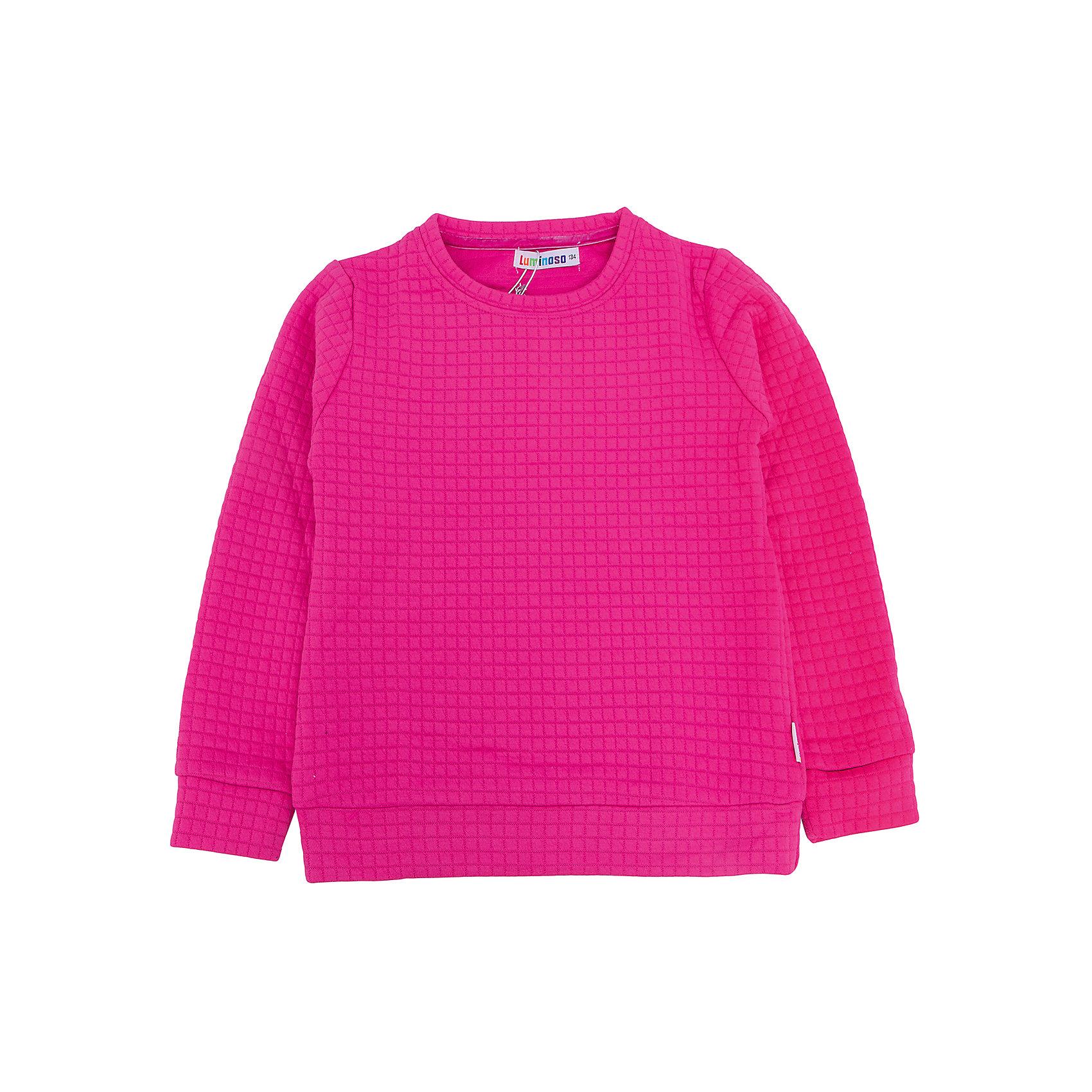 Толстовка для девочки LuminosoТолстовки<br>Характеристики товара:<br><br>- цвет: розовый;<br>- материал: 60% хлопок, 40% акрил;<br>- плотный фактурный трикотаж;<br>- длинный рукав;<br>- округлый горловой вырез.<br><br>Стильная одежда от бренда Luminoso (Люминосо), созданная при участии итальянских дизайнеров, учитывает потребности подростков и последние веяния моды. Она удобная и модная.<br>Эта стильная толстовка идеальна для прохладной погоды. Он хорошо сидит на ребенке, обеспечивает комфорт и отлично сочетается с одежной разных стилей. Модель отличается высоким качеством материала и продуманным дизайном.<br><br>Толстовку для девочки от бренда Luminoso (Люминосо) можно купить в нашем интернет-магазине.<br><br>Ширина мм: 190<br>Глубина мм: 74<br>Высота мм: 229<br>Вес г: 236<br>Цвет: розовый<br>Возраст от месяцев: 108<br>Возраст до месяцев: 120<br>Пол: Женский<br>Возраст: Детский<br>Размер: 140,164,134,146,152,158<br>SKU: 4929710