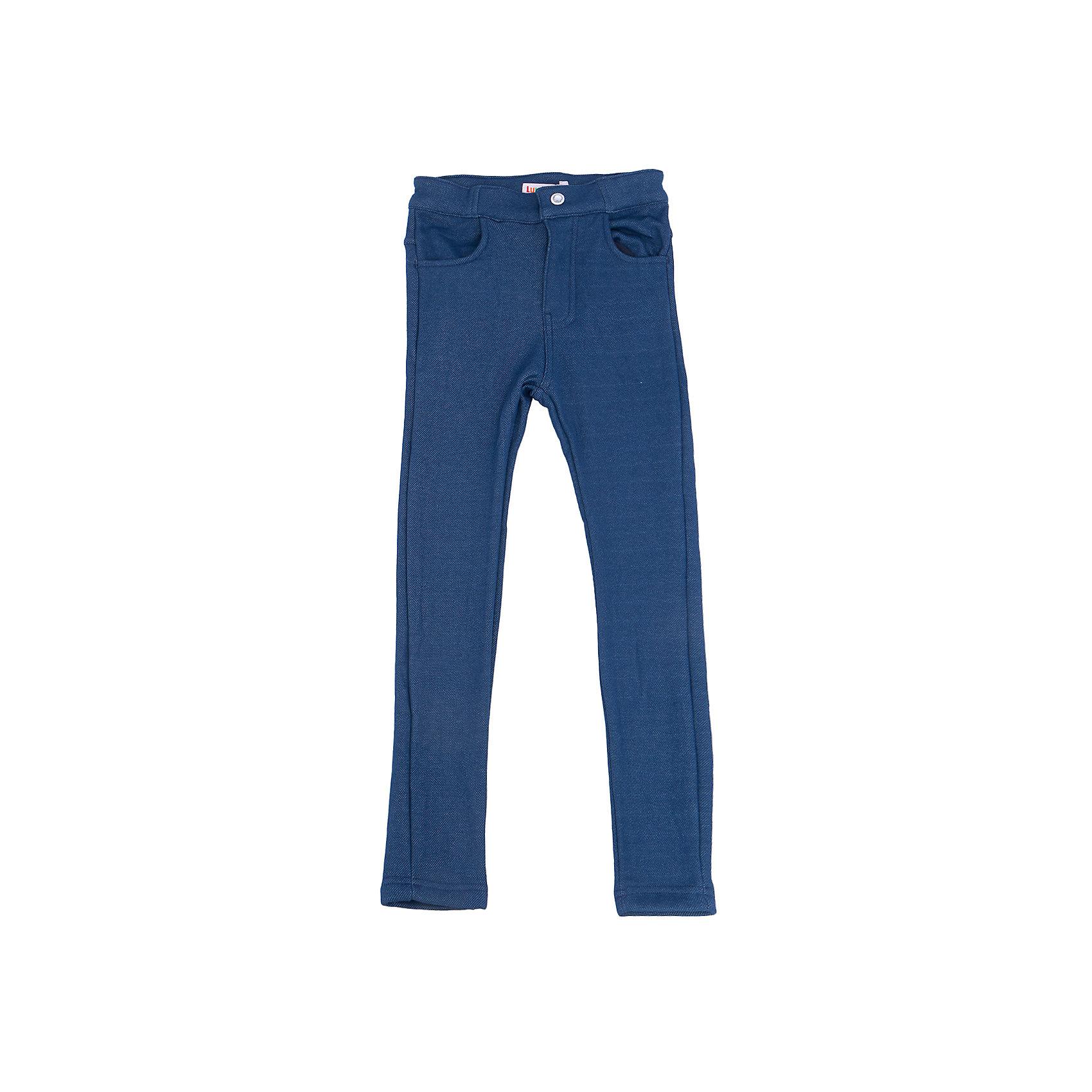 Брюки для девочки LuminosoЛеггинсы<br>Характеристики товара:<br><br>- цвет: разноцветный;<br>- материал: 80% хлопок, 20% полиэстер;<br>- трикотаж;<br>- по низу брючин молнии;<br>- мягкая резинка в поясе.<br><br>Стильная одежда от бренда Luminoso (Люминосо), созданная при участии итальянских дизайнеров, учитывает потребности подростков и последние веяния моды. Она удобная и модная.<br>Эти стильные брюки подходят для ежедневного ношения. Они хорошо сидят на ребенке, обеспечивают комфорт и отлично сочетаются с одежной разных стилей. Модель отличается высоким качеством материала и продуманным дизайном. Натуральный хлопок в составе изделия делает его дышащим, приятным на ощупь и гипоаллергеным.<br><br>Брюки для девочки от бренда Luminoso (Люминосо) можно купить в нашем интернет-магазине.<br><br>Ширина мм: 215<br>Глубина мм: 88<br>Высота мм: 191<br>Вес г: 336<br>Цвет: синий<br>Возраст от месяцев: 156<br>Возраст до месяцев: 168<br>Пол: Женский<br>Возраст: Детский<br>Размер: 164,134,140,146,152,158<br>SKU: 4929717