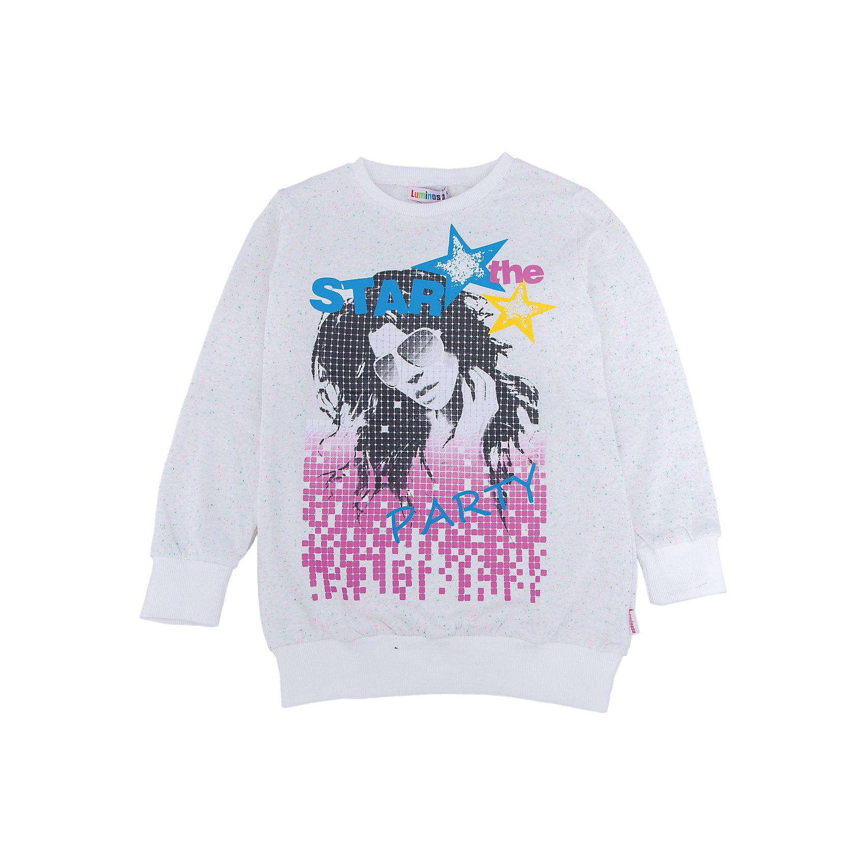 Толстовка для девочки LuminosoТолстовки<br>Характеристики товара:<br><br>- цвет: белый;<br>- материал: 80% хлопок, 20% полиэстер;<br>- удлиненная;<br>- длинный рукав;<br>- принт.<br><br>Стильная одежда от бренда Luminoso (Люминосо), созданная при участии итальянских дизайнеров, учитывает потребности подростков и последние веяния моды. Она удобная и модная.<br>Эта стильная толстовка идеальна для прохладной погоды. Он хорошо сидит на ребенке, обеспечивает комфорт и отлично сочетается с одежной разных стилей. Модель отличается высоким качеством материала и продуманным дизайном.<br><br>Толстовку для девочки от бренда Luminoso (Люминосо) можно купить в нашем интернет-магазине.<br><br>Ширина мм: 190<br>Глубина мм: 74<br>Высота мм: 229<br>Вес г: 236<br>Цвет: бежевый<br>Возраст от месяцев: 144<br>Возраст до месяцев: 156<br>Пол: Женский<br>Возраст: Детский<br>Размер: 158,164,134,140,146,152<br>SKU: 4929745